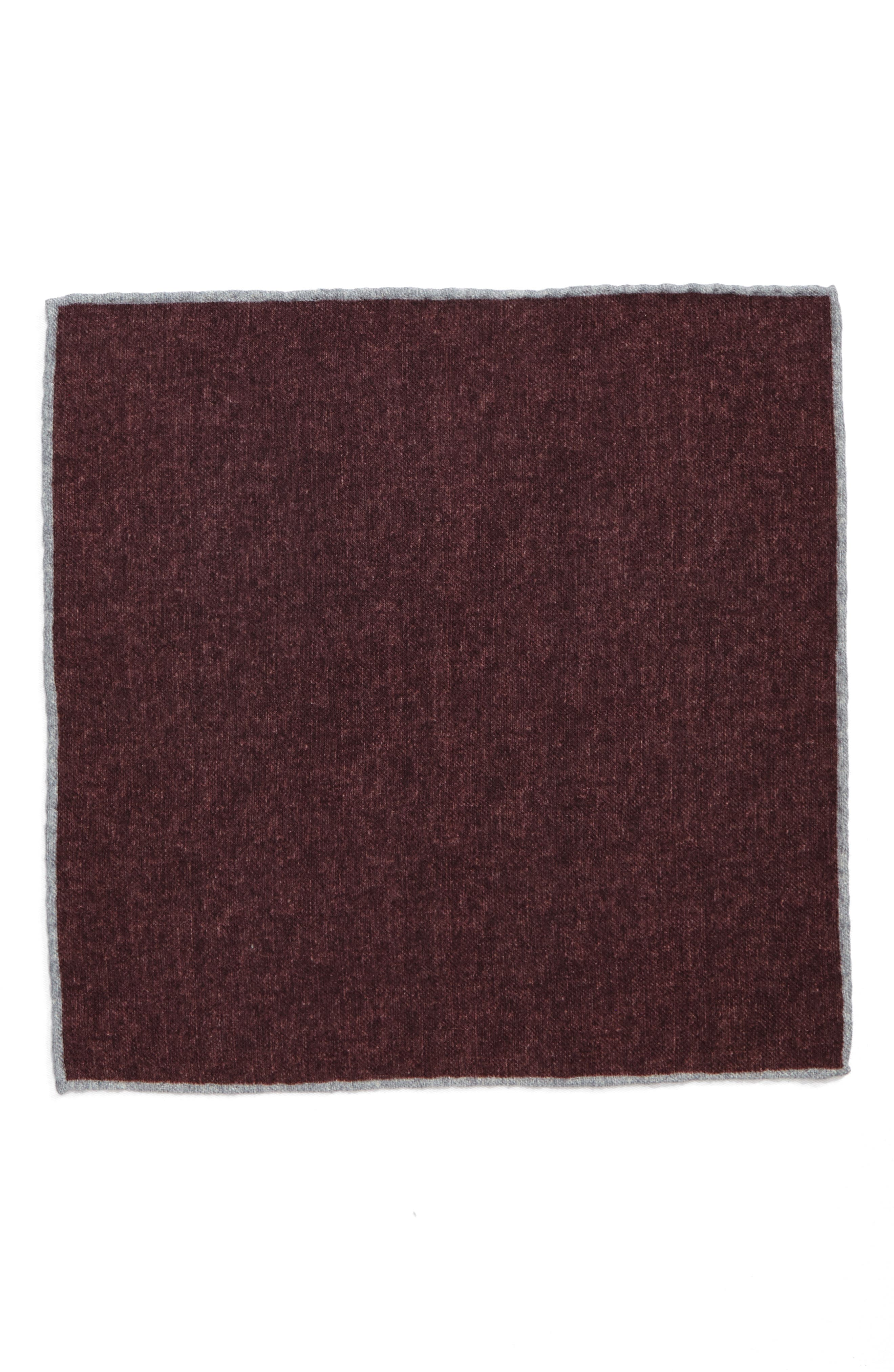 Flannel Wool Pocket Square,                             Alternate thumbnail 6, color,