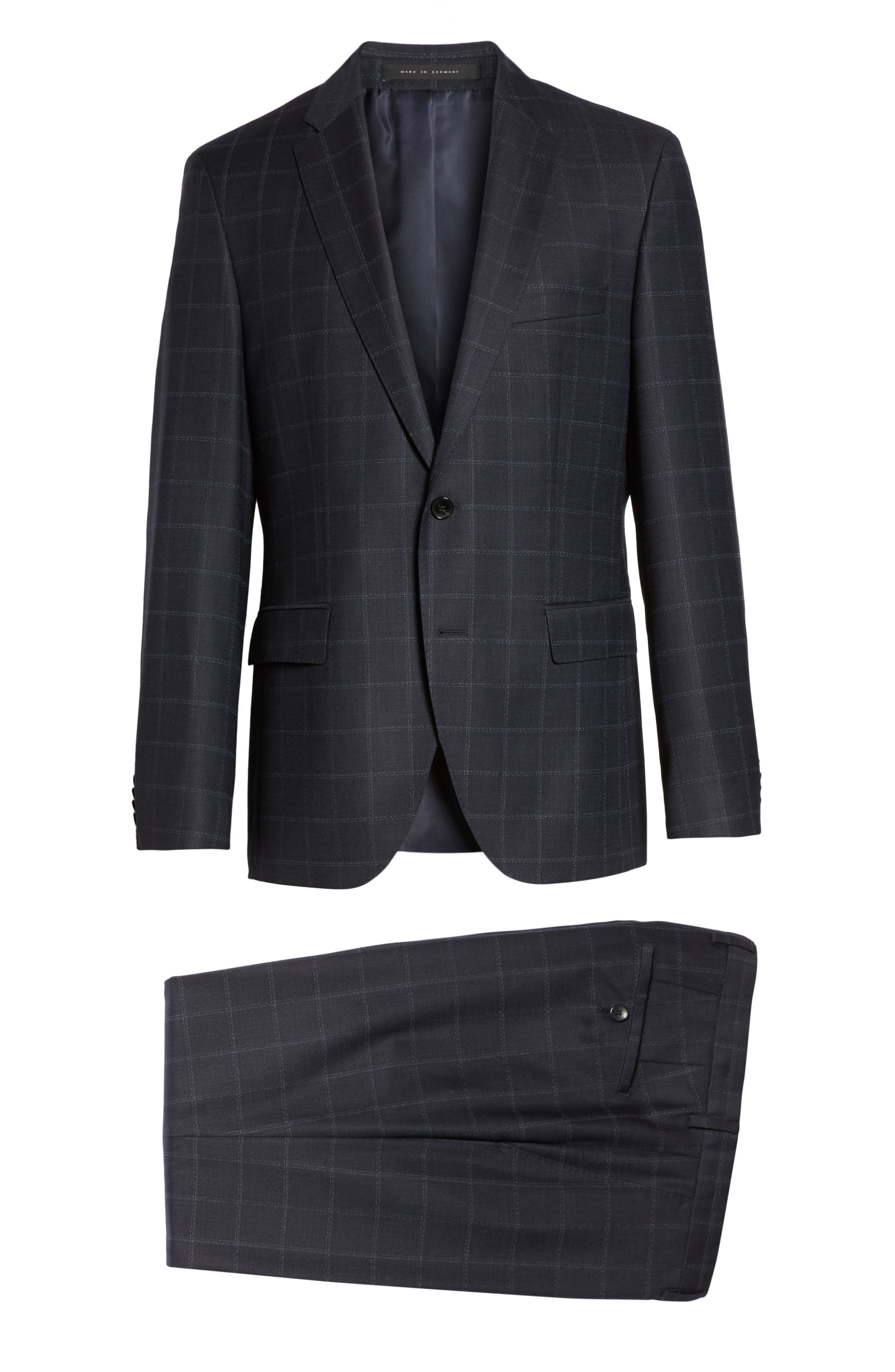 Johnstons/Lenon Classic Fit Windowpane Wool Suit,                             Alternate thumbnail 8, color,                             410