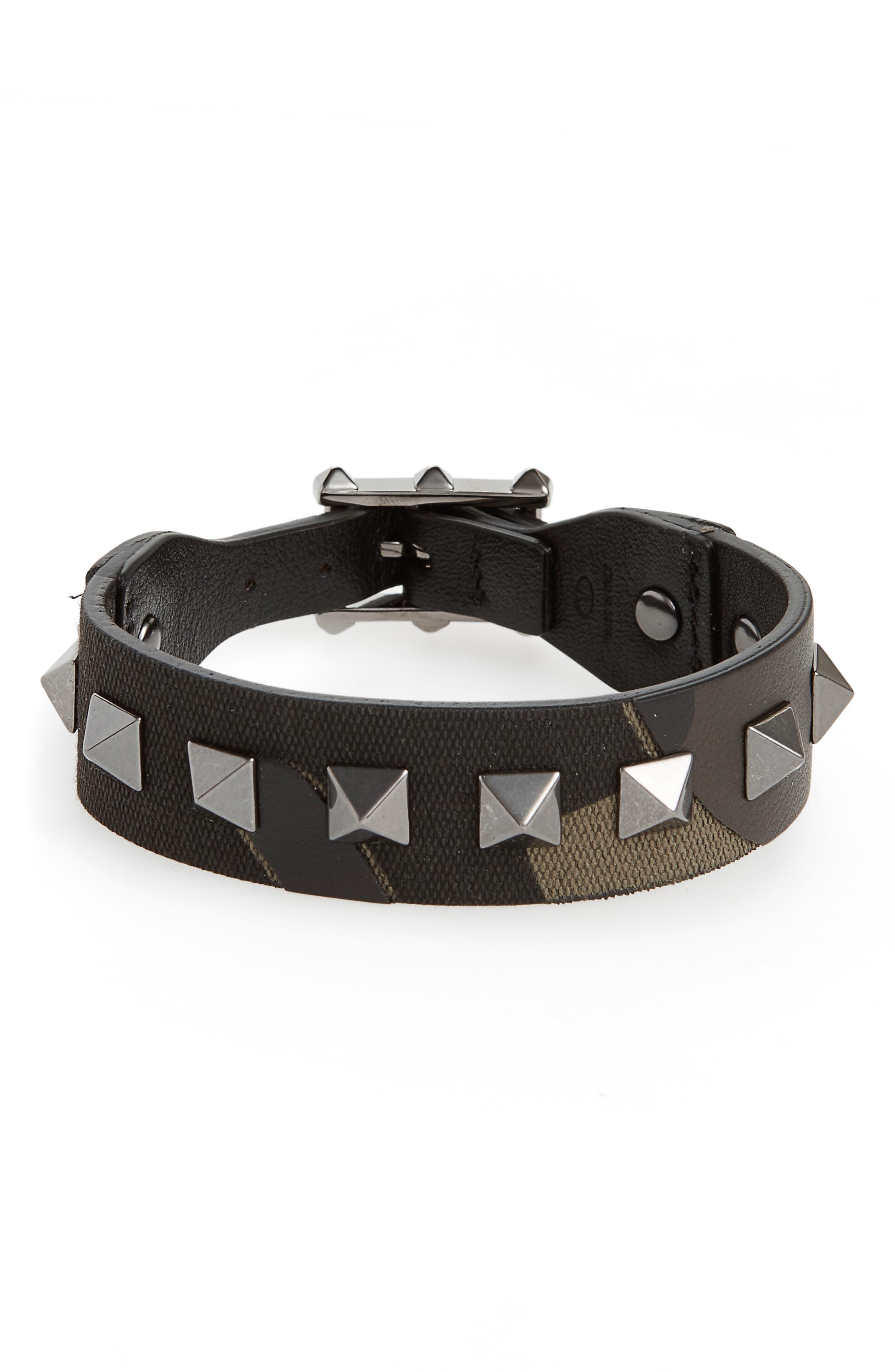 Studded Camo Bracelet,                             Main thumbnail 1, color,