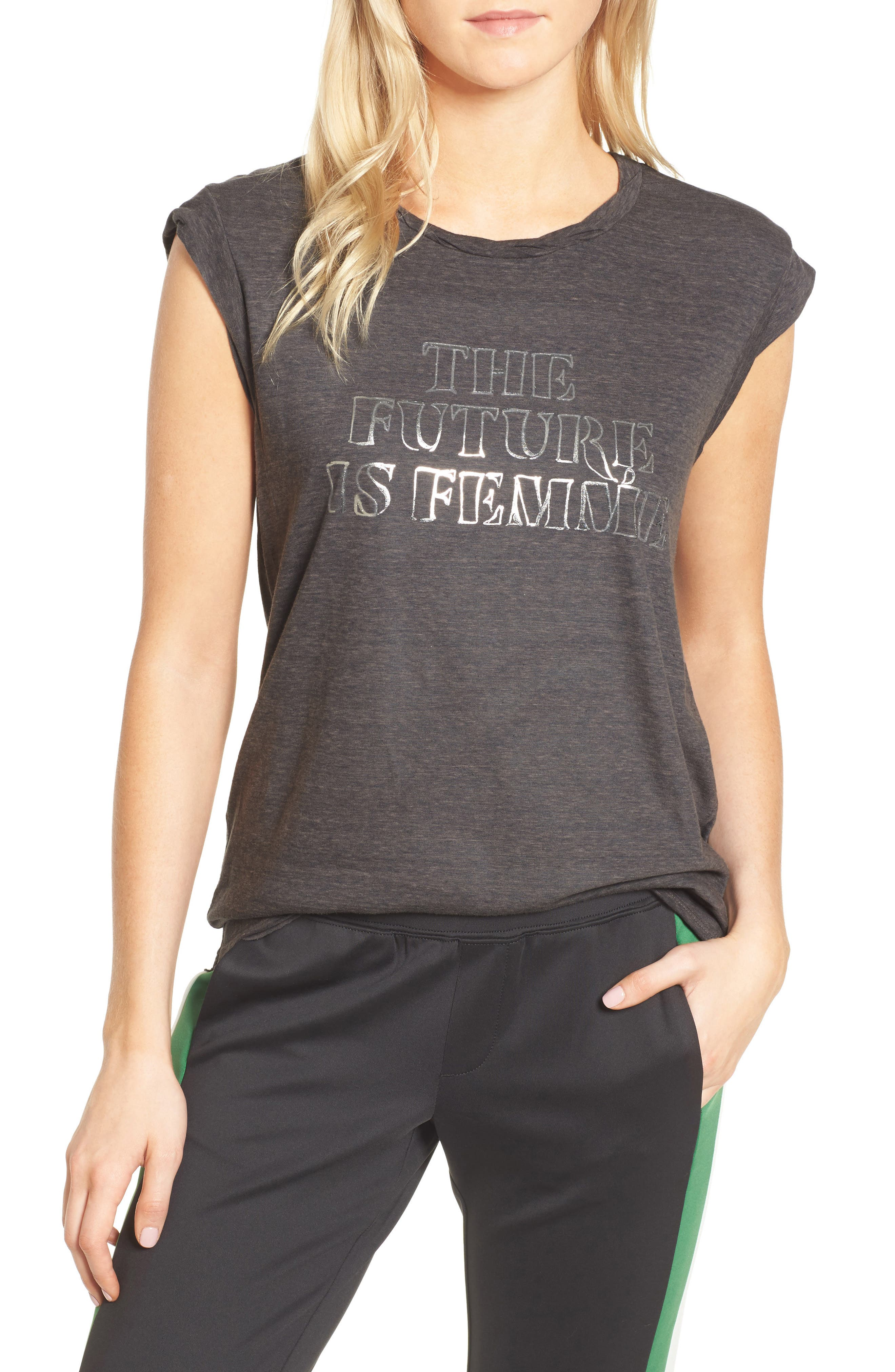 Frankie - The Future is Femme Muscle Tank,                             Main thumbnail 1, color,                             024