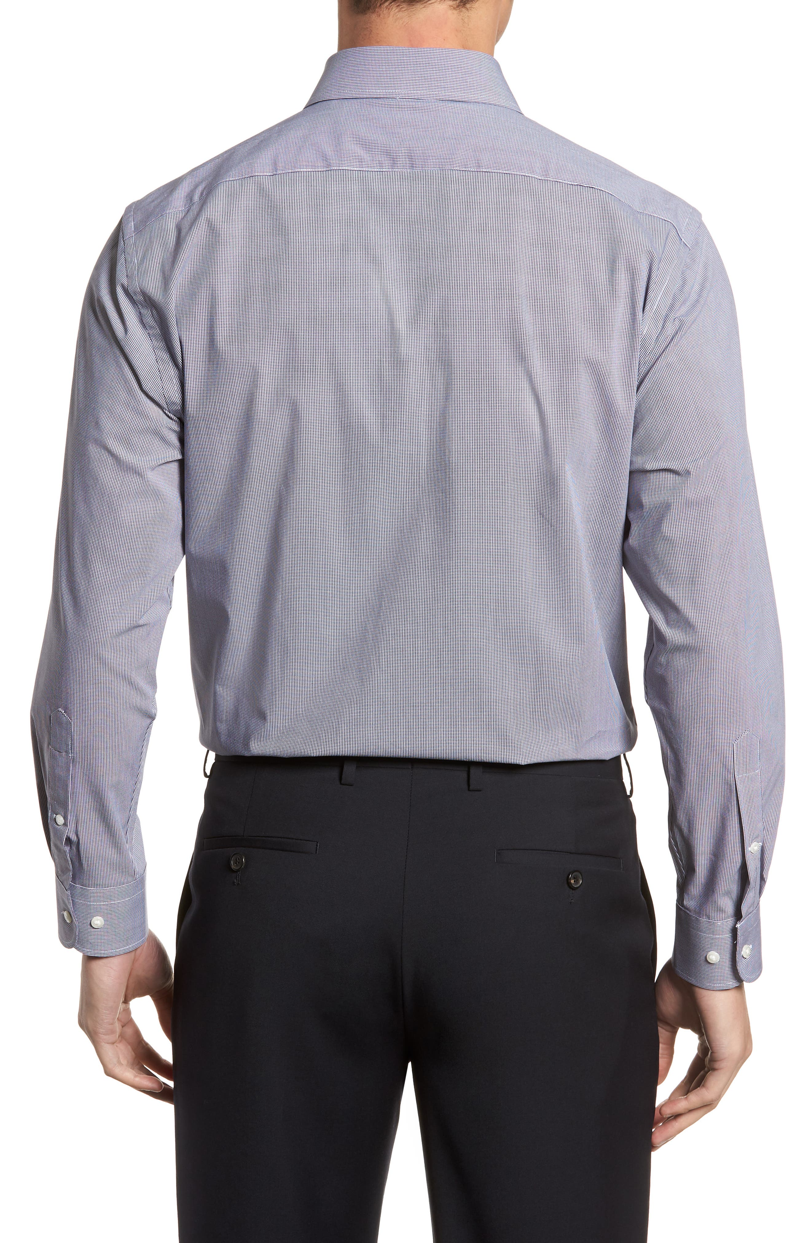Tech-Smart Traditional Fit Stretch Microdot Dress Shirt,                             Alternate thumbnail 3, color,                             410