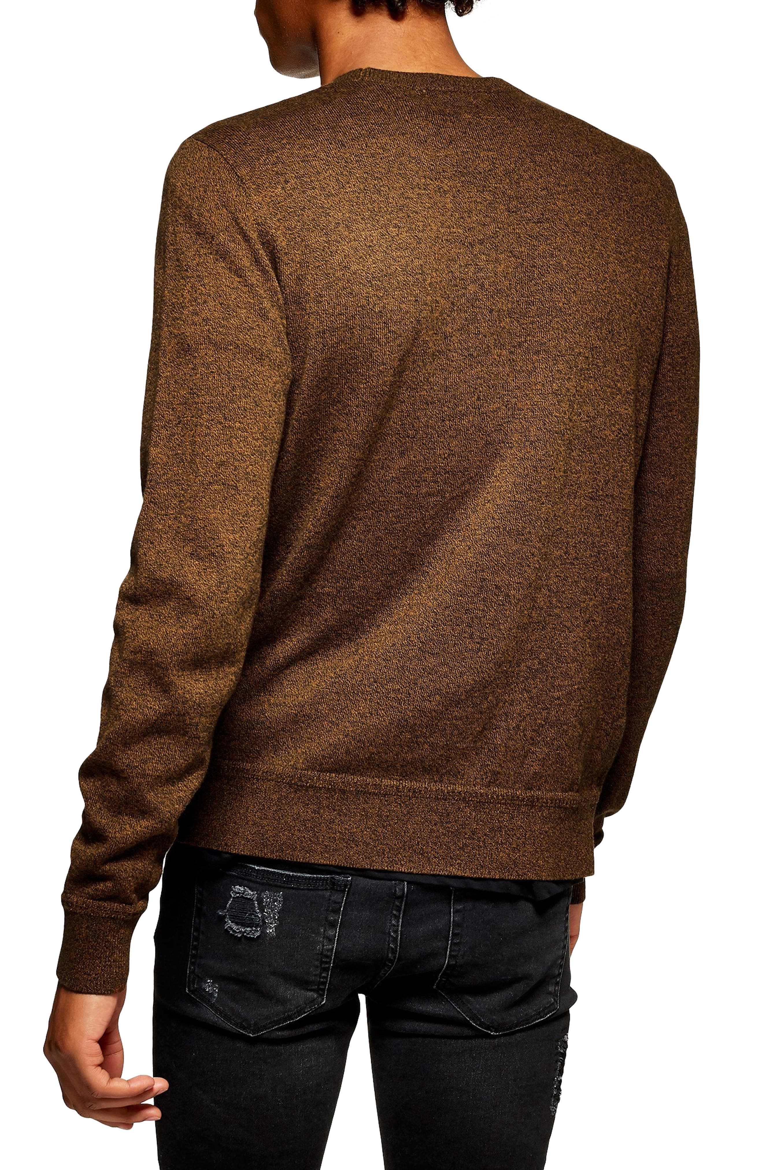 Classic Fit Sweater,                             Alternate thumbnail 2, color,                             ORANGE