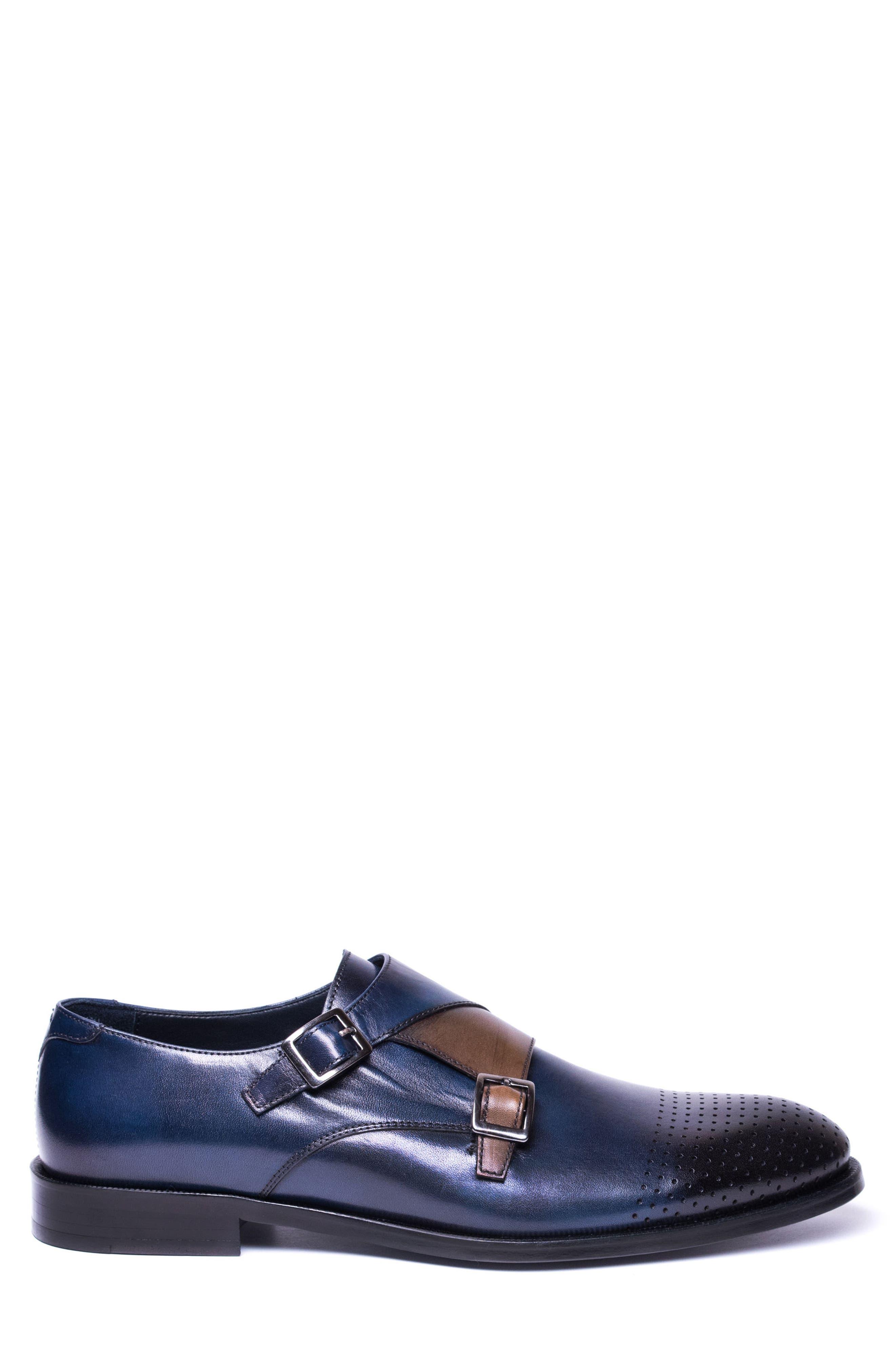Double Buckle Monk Shoe,                             Alternate thumbnail 6, color,