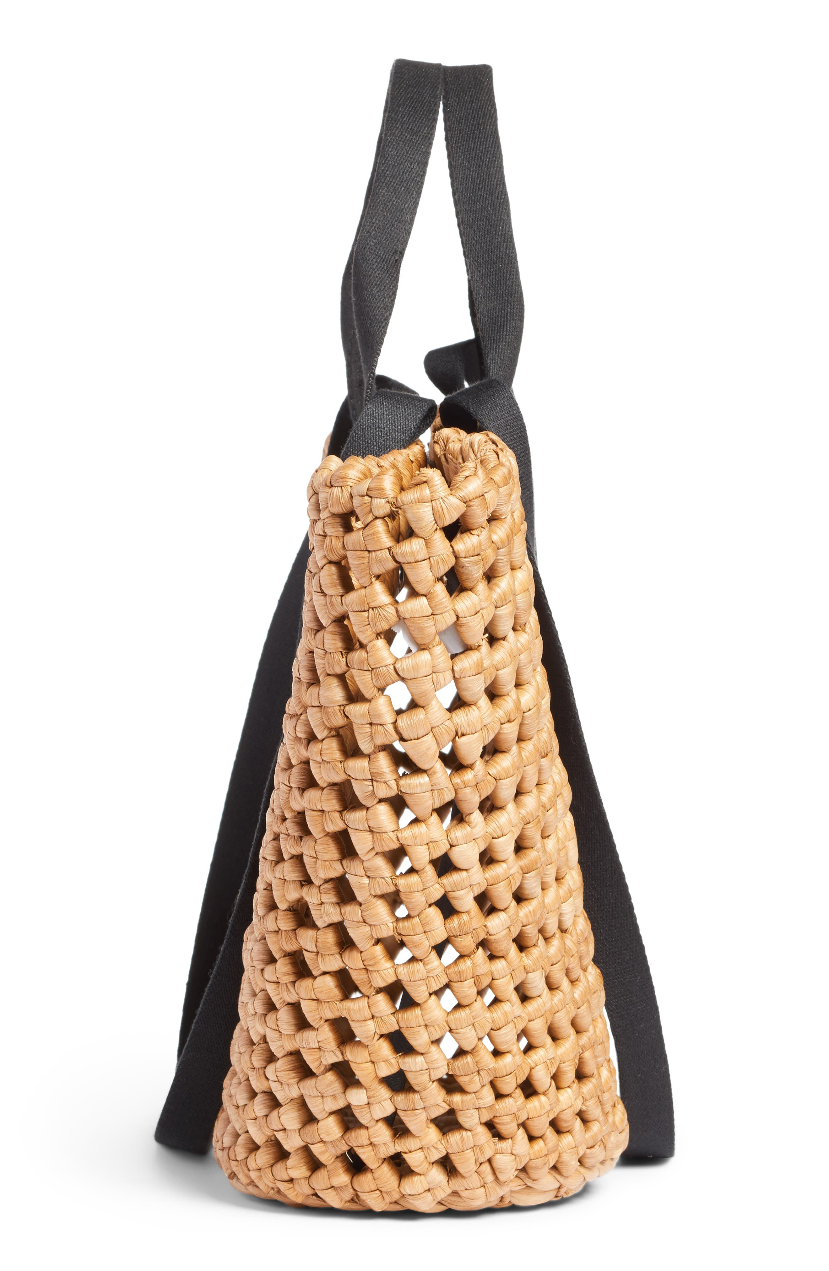 Open Weave Straw Tote,                             Alternate thumbnail 5, color,                             235