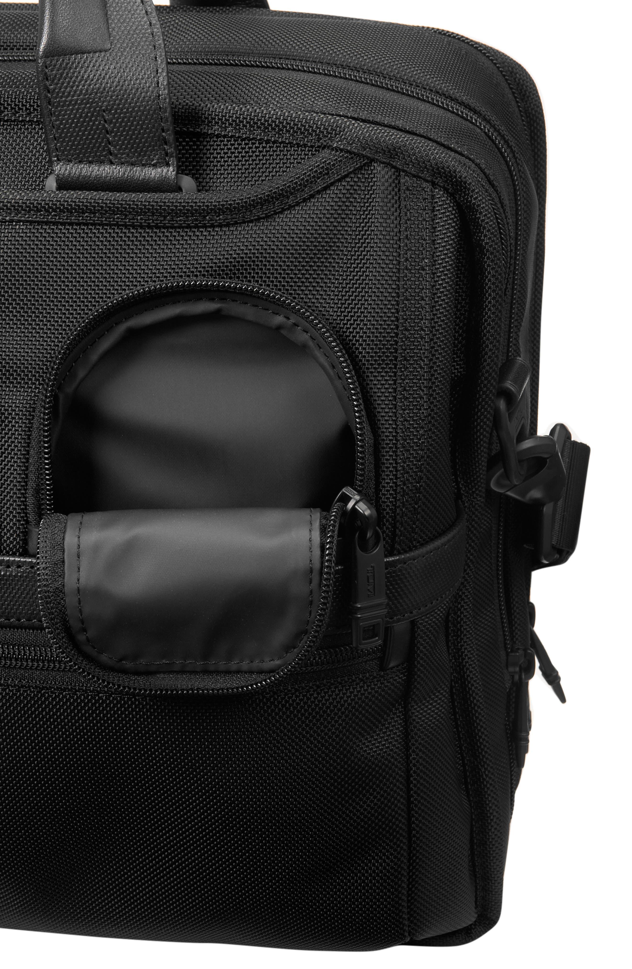 Alpha 2 Expandable Laptop Briefcase,                             Alternate thumbnail 5, color,                             BLACK