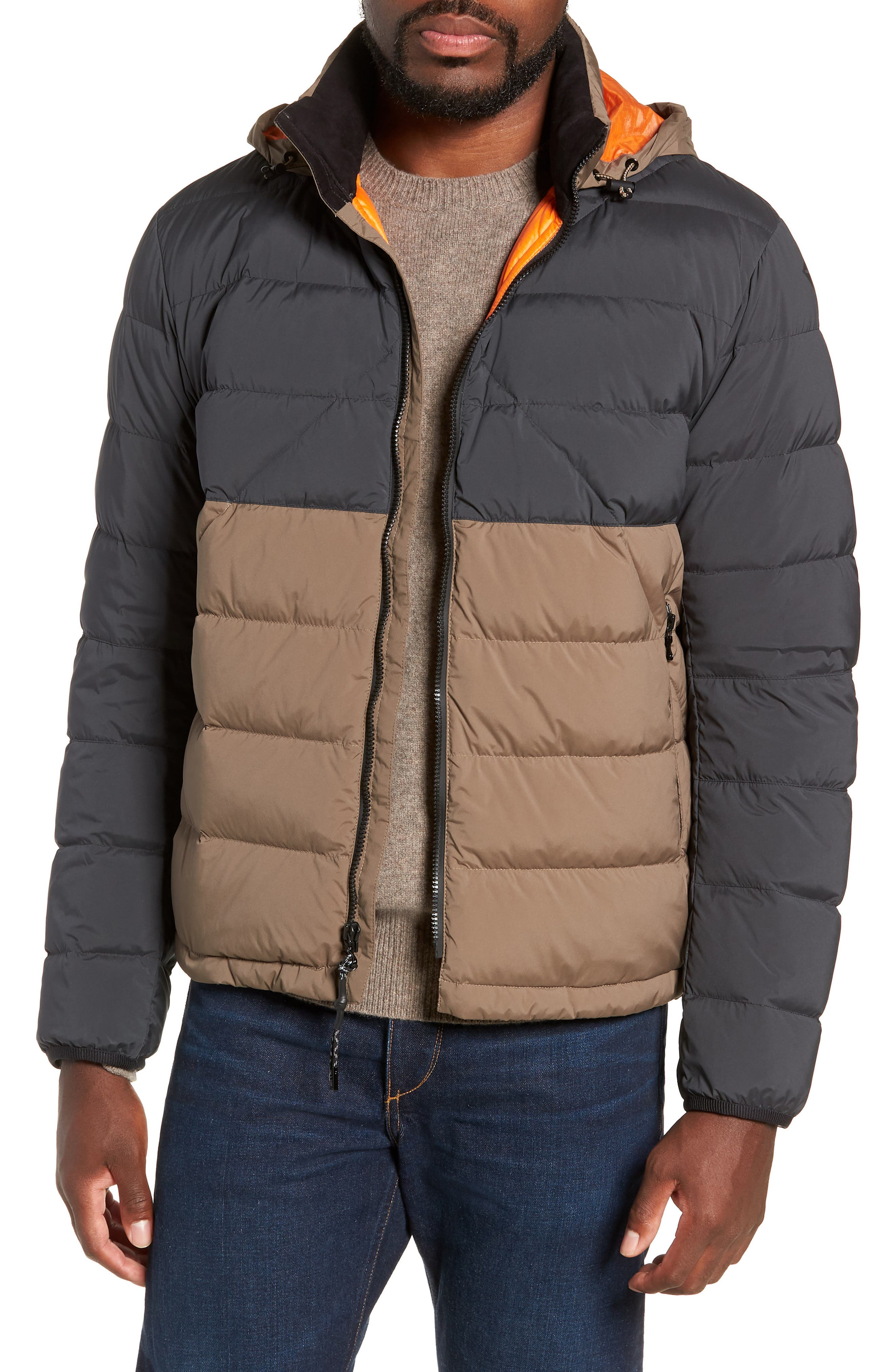 Regular Fit Wes Packable Down Jacket,                             Main thumbnail 1, color,                             BLACK/ ARMY