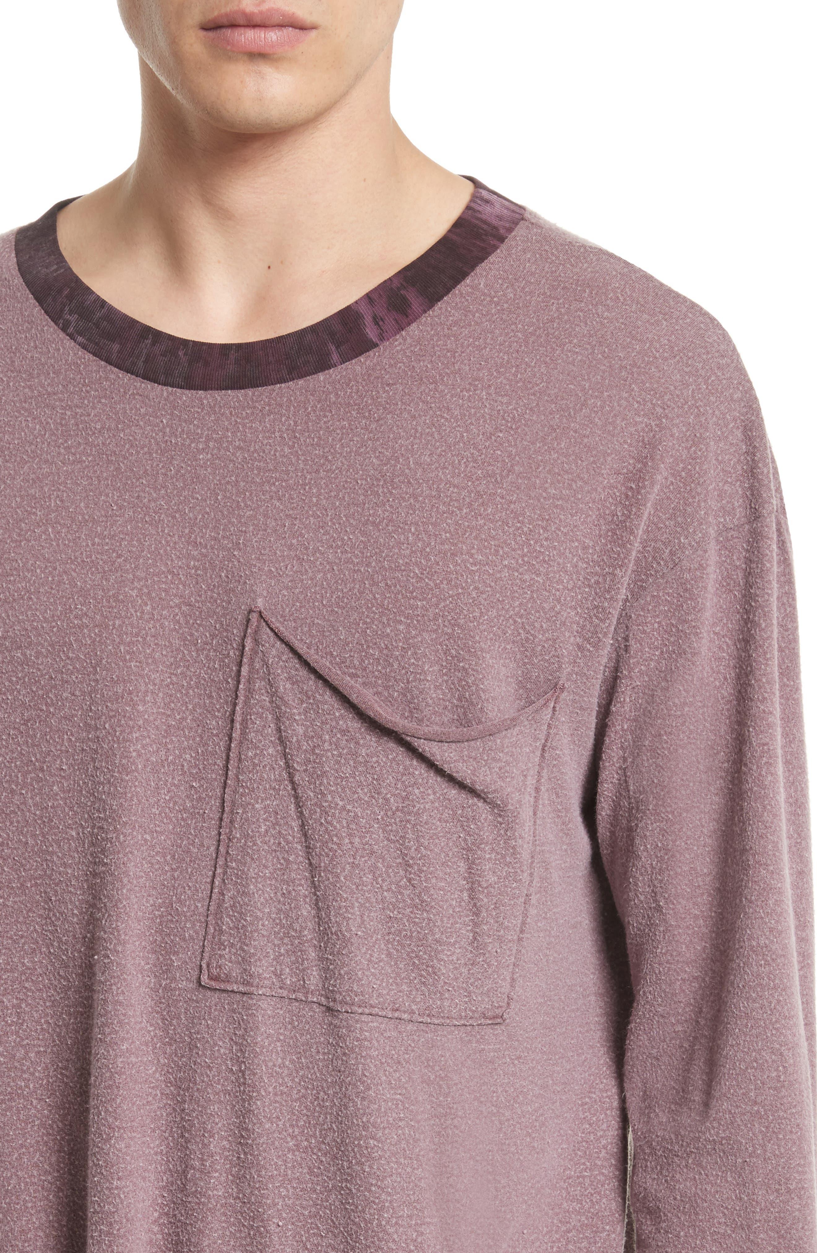 Tide Long Sleeve Pocket T-Shirt,                             Alternate thumbnail 4, color,                             649