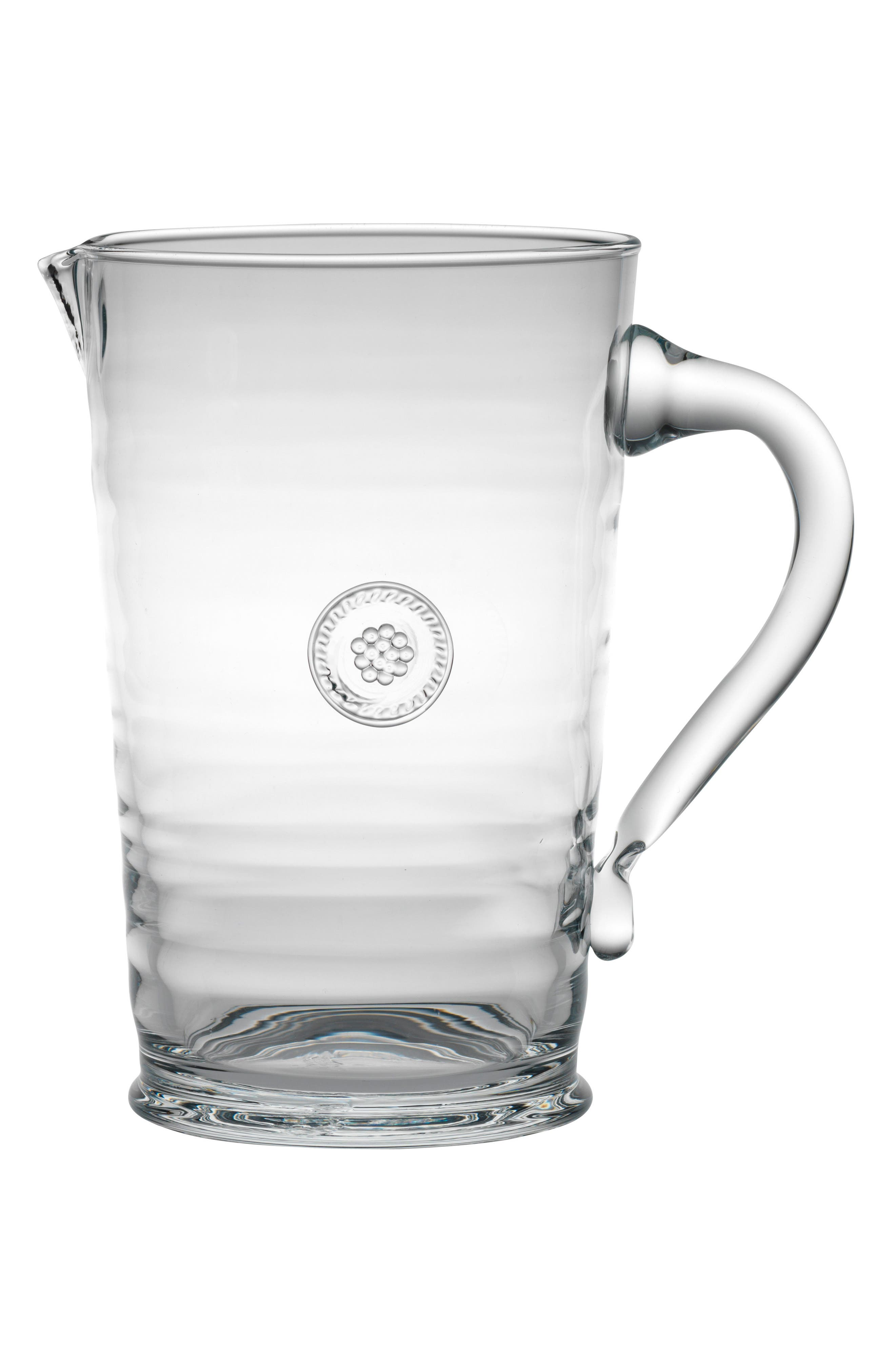 Berry & Thread Glass Pitcher,                             Alternate thumbnail 2, color,                             CLEAR
