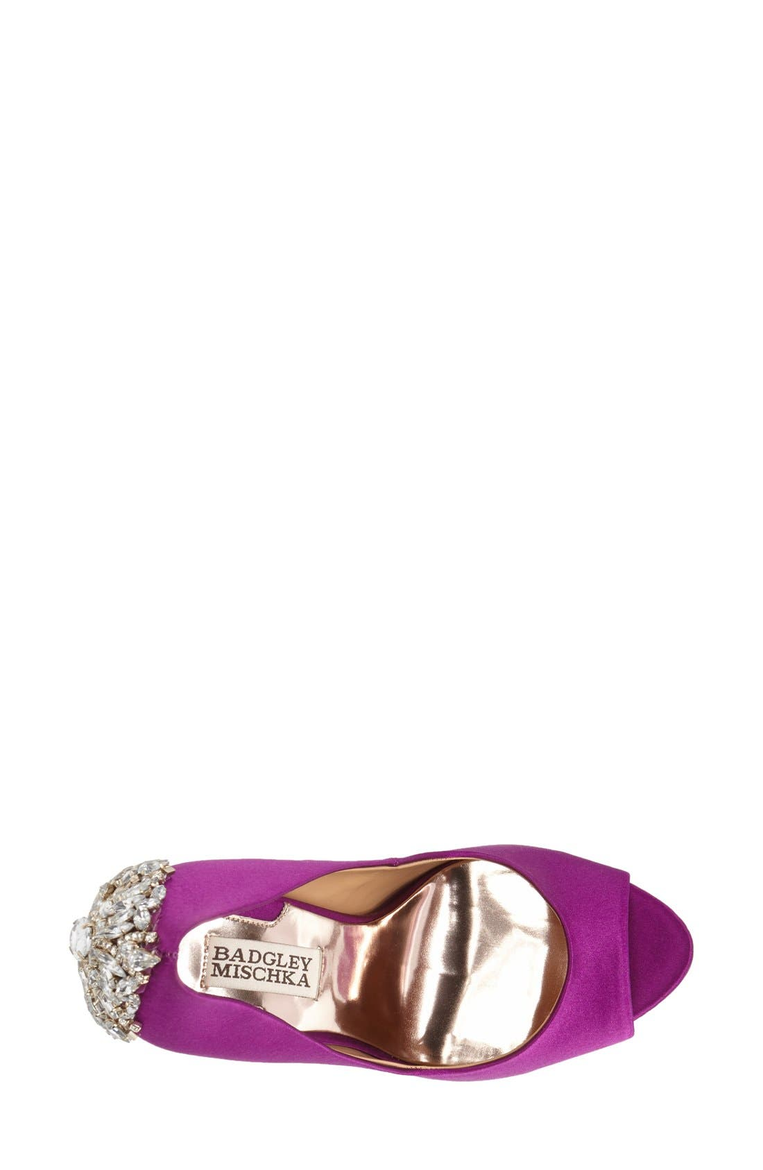 'Kiara' Crystal Back Open Toe Pump,                             Alternate thumbnail 38, color,