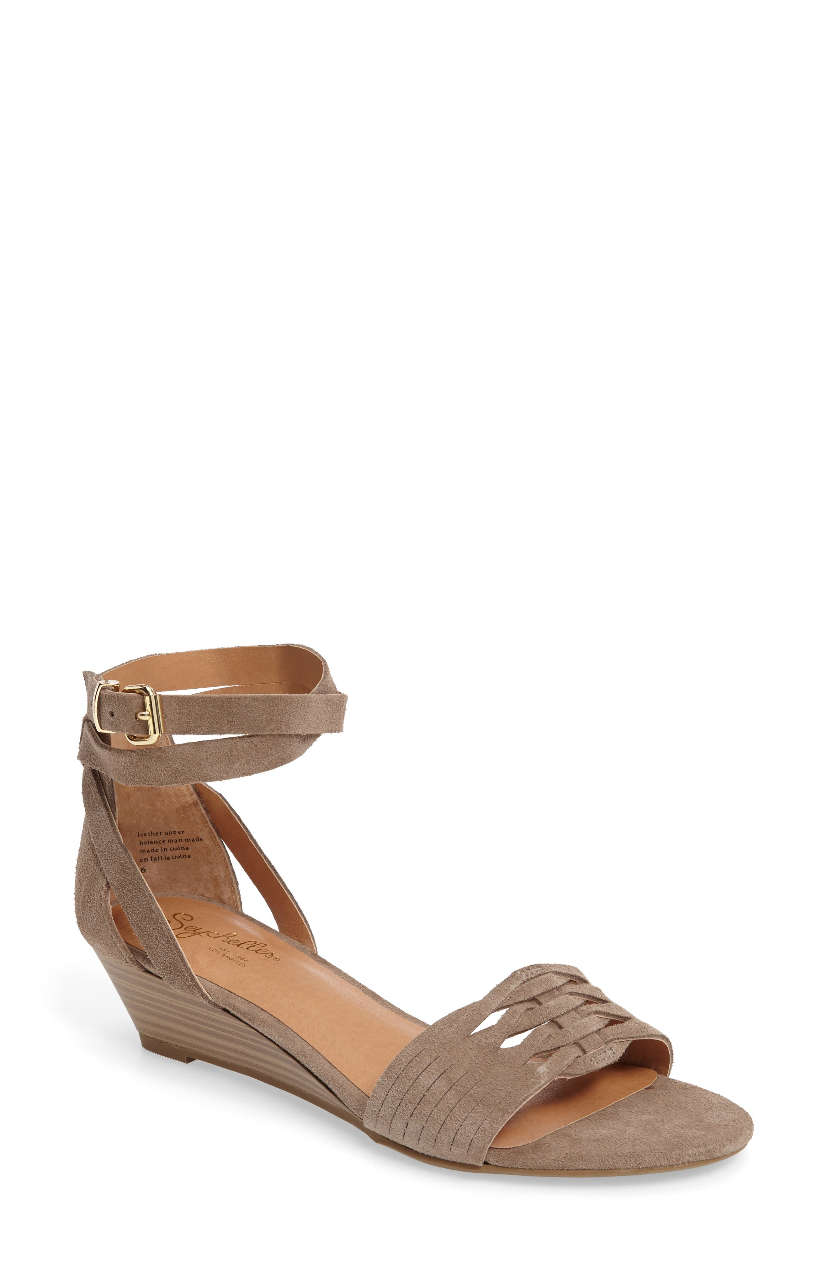 Sincere Wraparound Wedge Sandal,                             Main thumbnail 2, color,