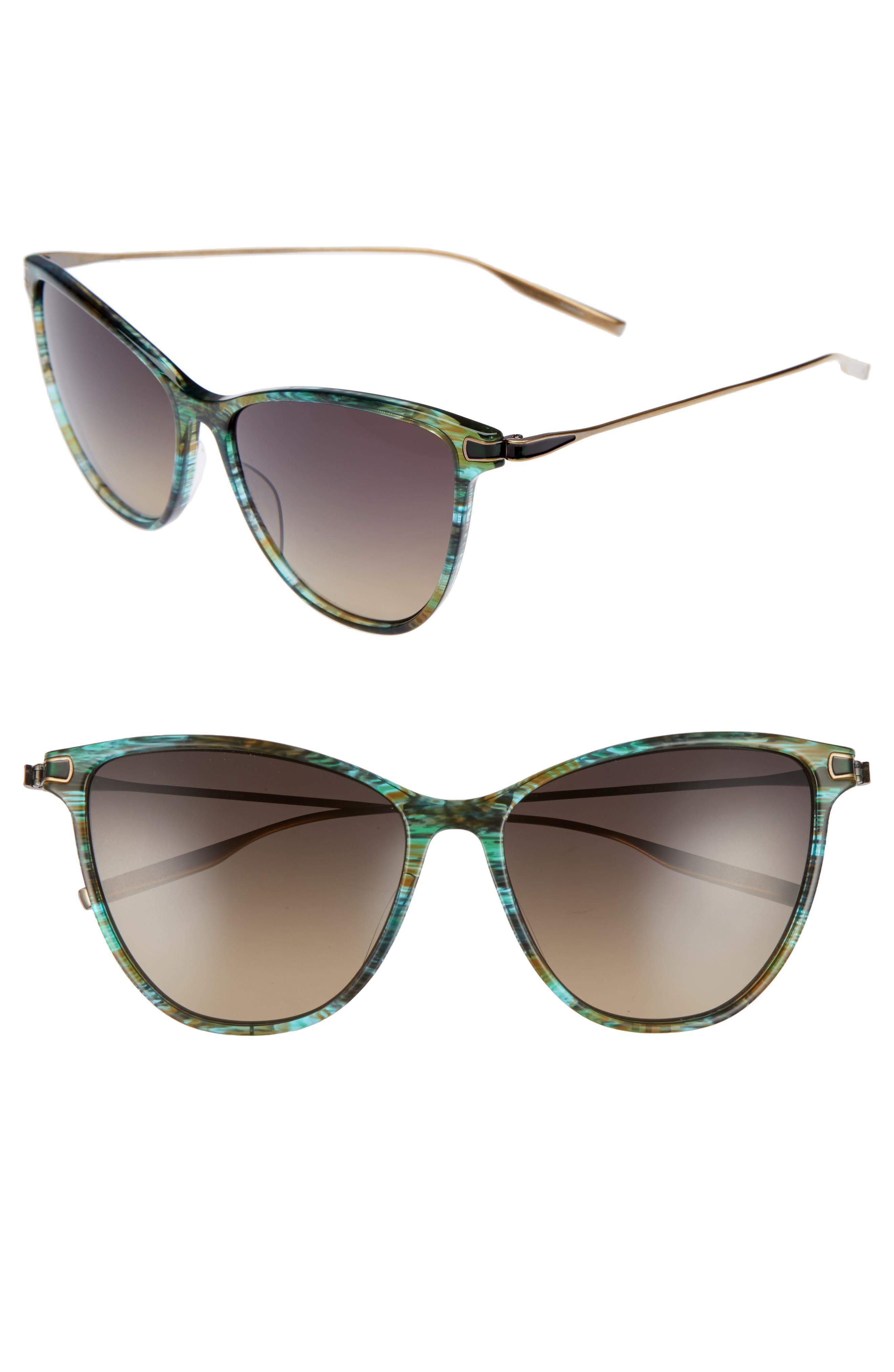 SALT. Nia 58mm Polarized Cat Eye Sunglasses, Main, color, 300