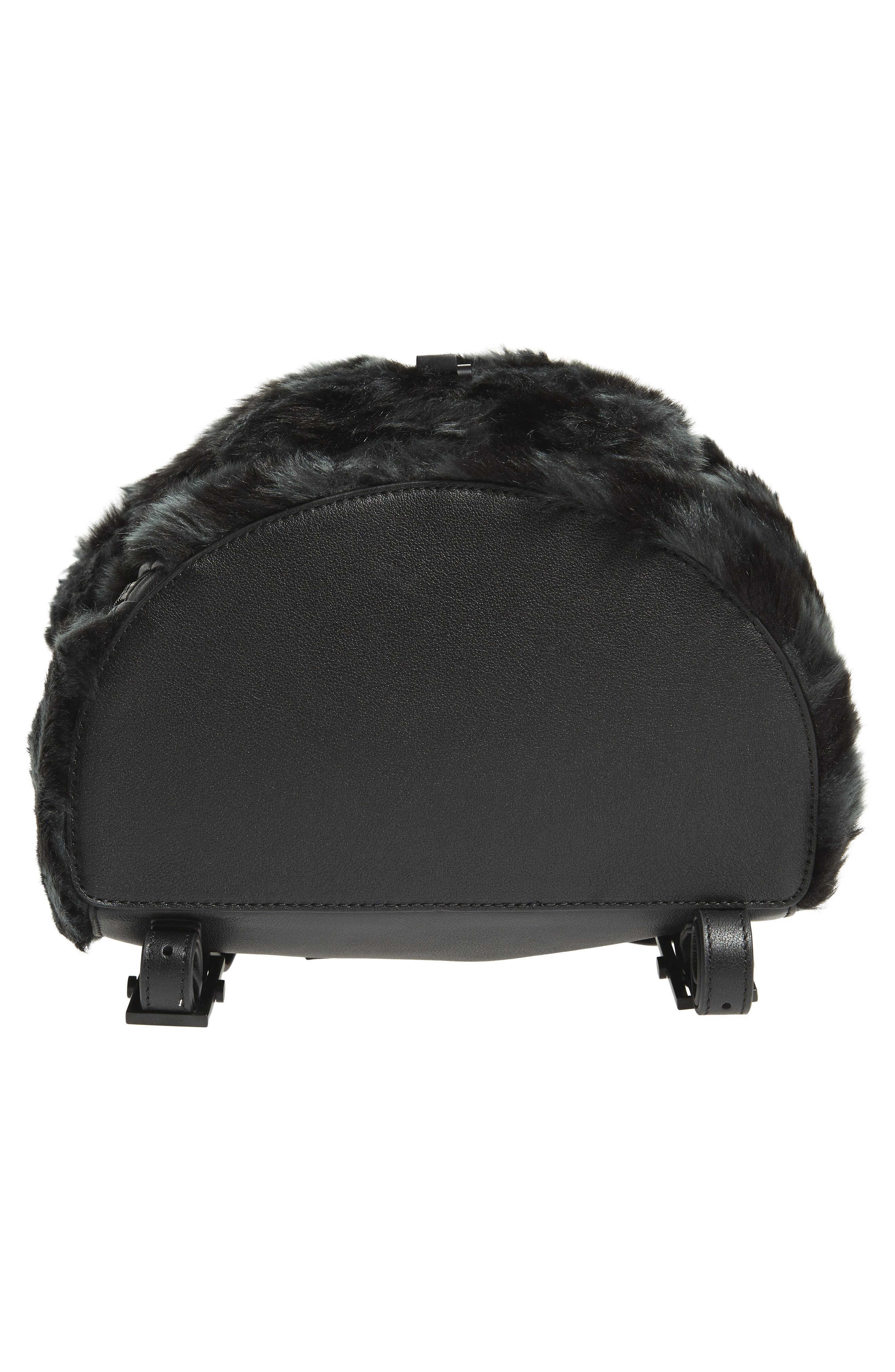 Koenji Faux Fur Backpack,                             Alternate thumbnail 6, color,                             004