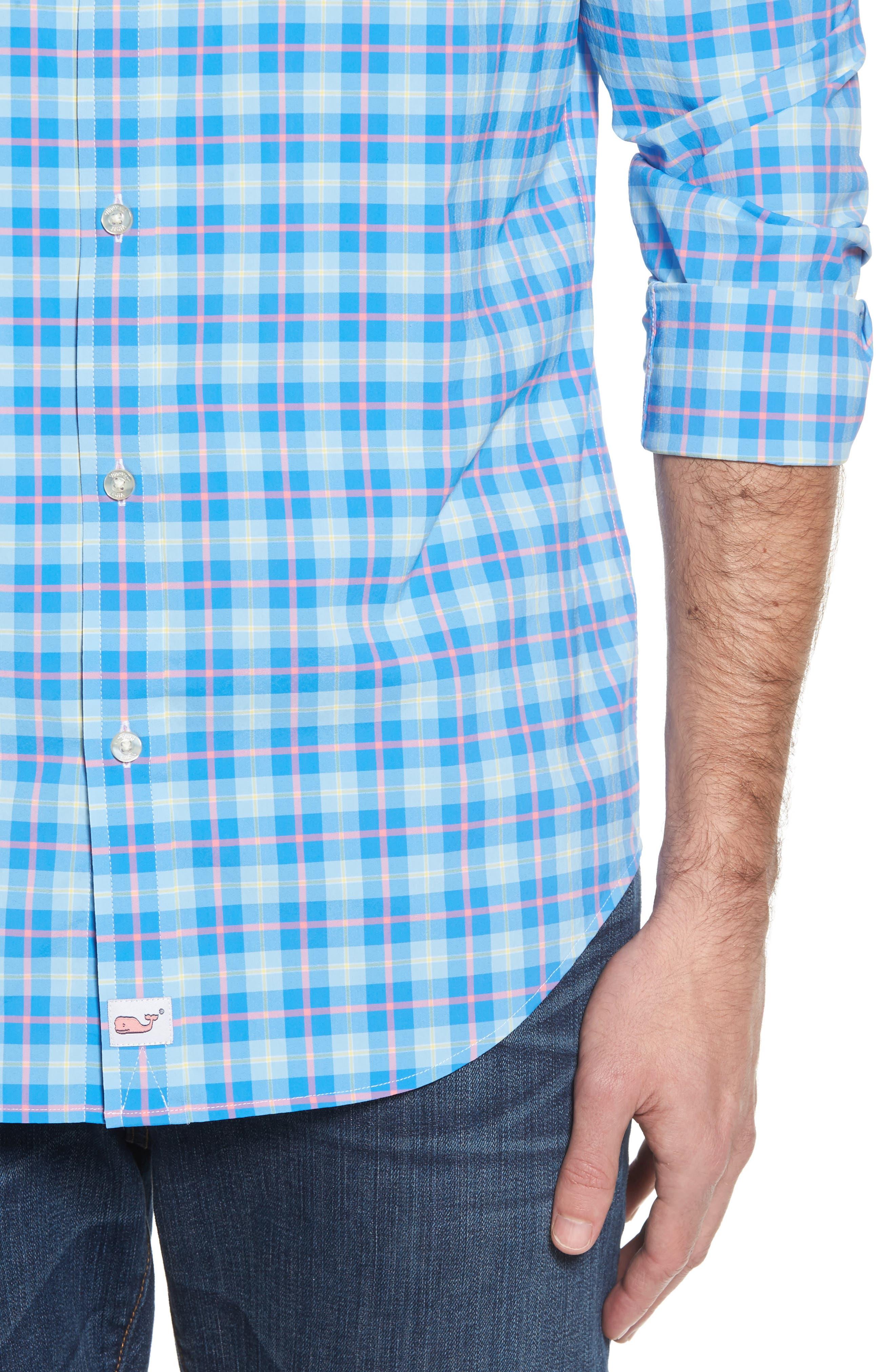 Blue Heron Classic Fit Plaid Sport Shirt,                             Alternate thumbnail 4, color,                             477