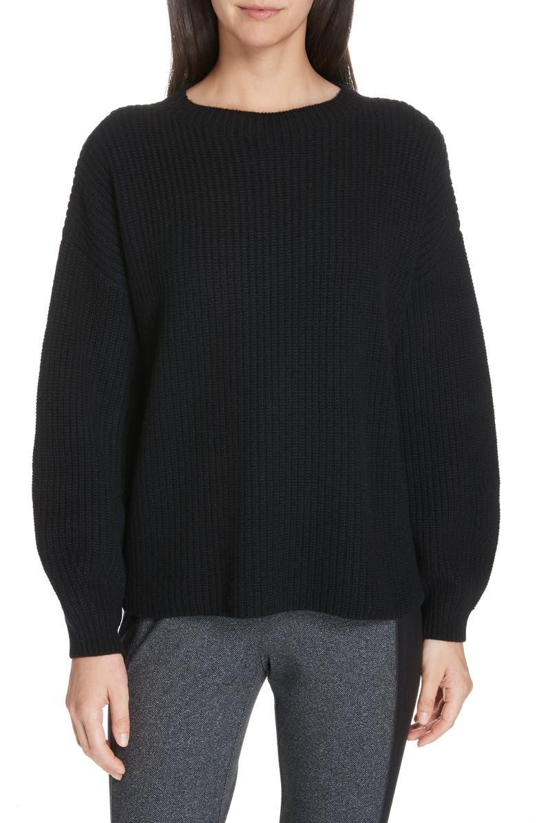 Eileen Fisher Cashmeres Crewneck Shaker Cashmere Sweater