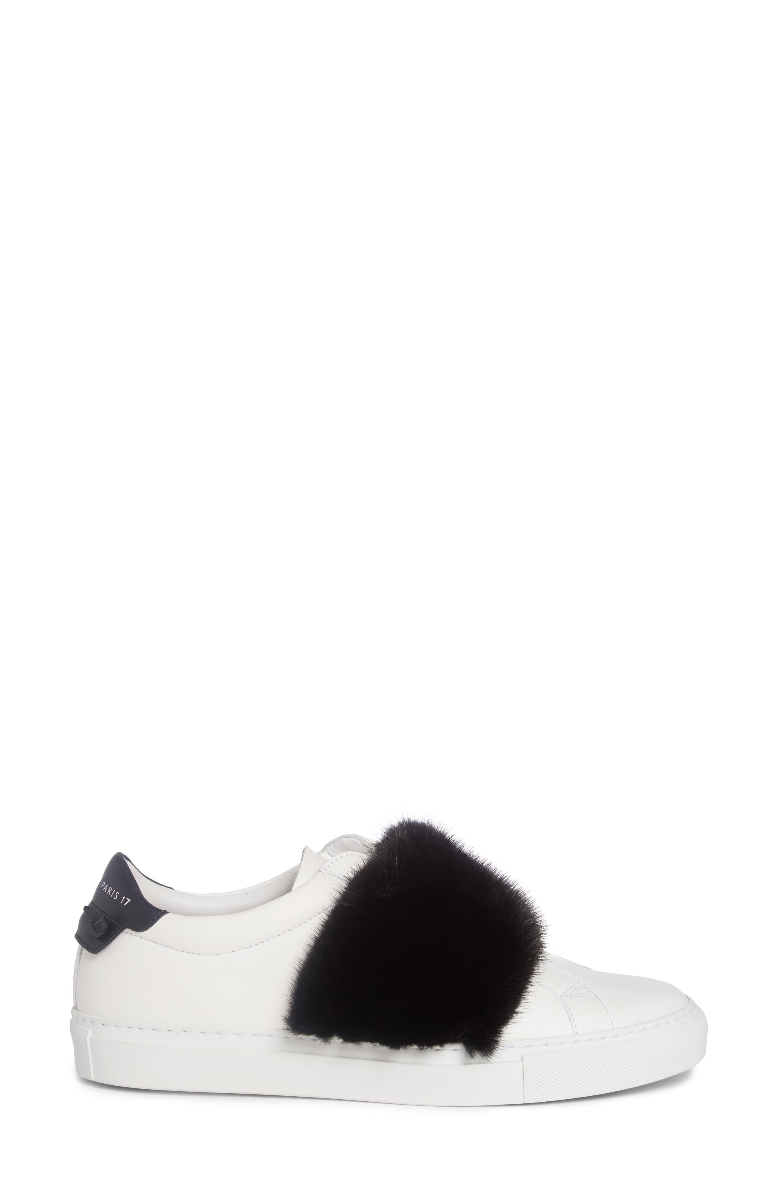 Urban Street Slip-On Sneaker with Genuine Mink Fur Trim,                             Alternate thumbnail 12, color,