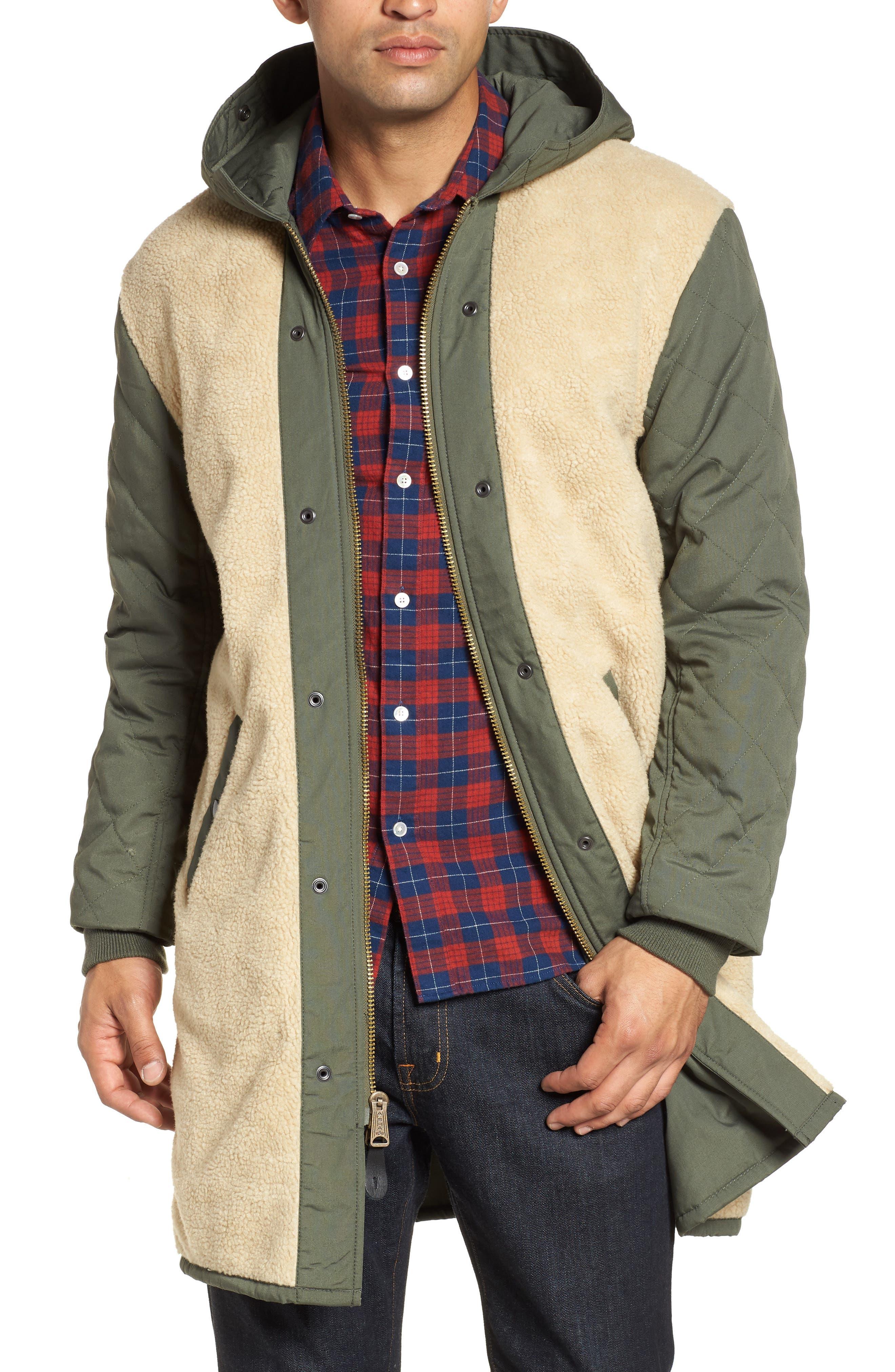 M-47 Faux Shearling Reversible Jacket,                             Alternate thumbnail 4, color,                             M-65 OLIVE