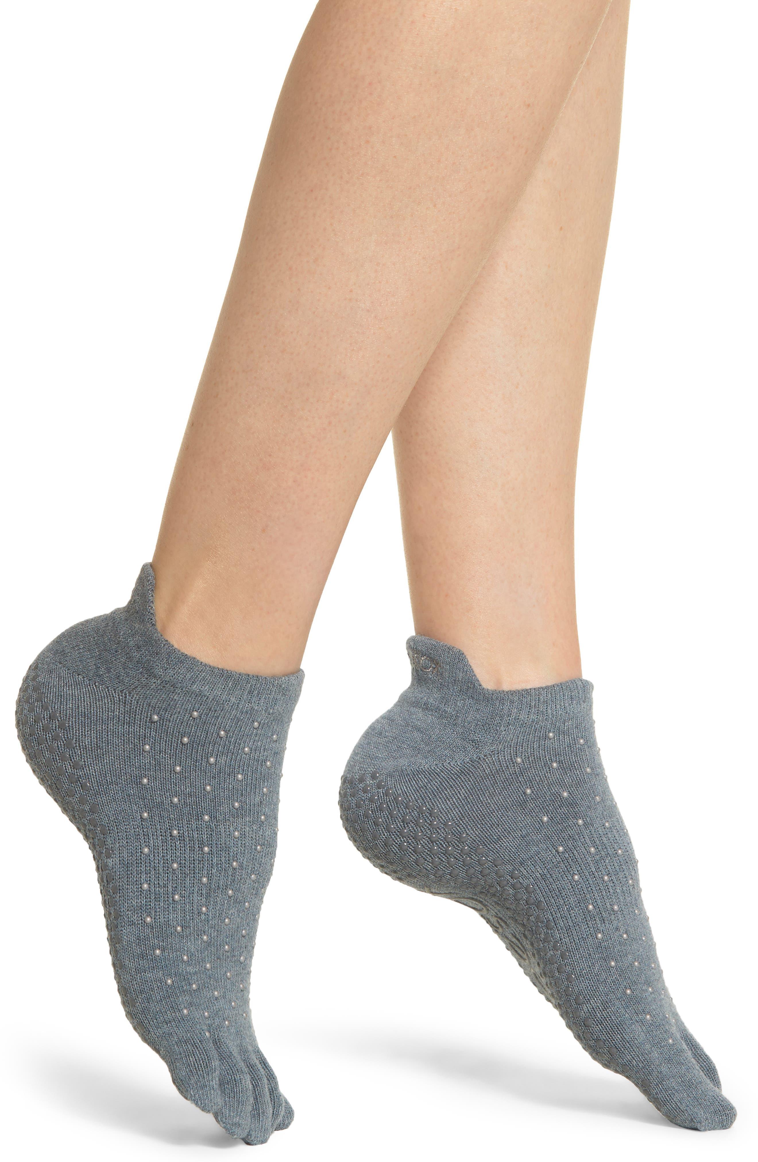 TOESOX Full Toe Gripper Socks in Baltic
