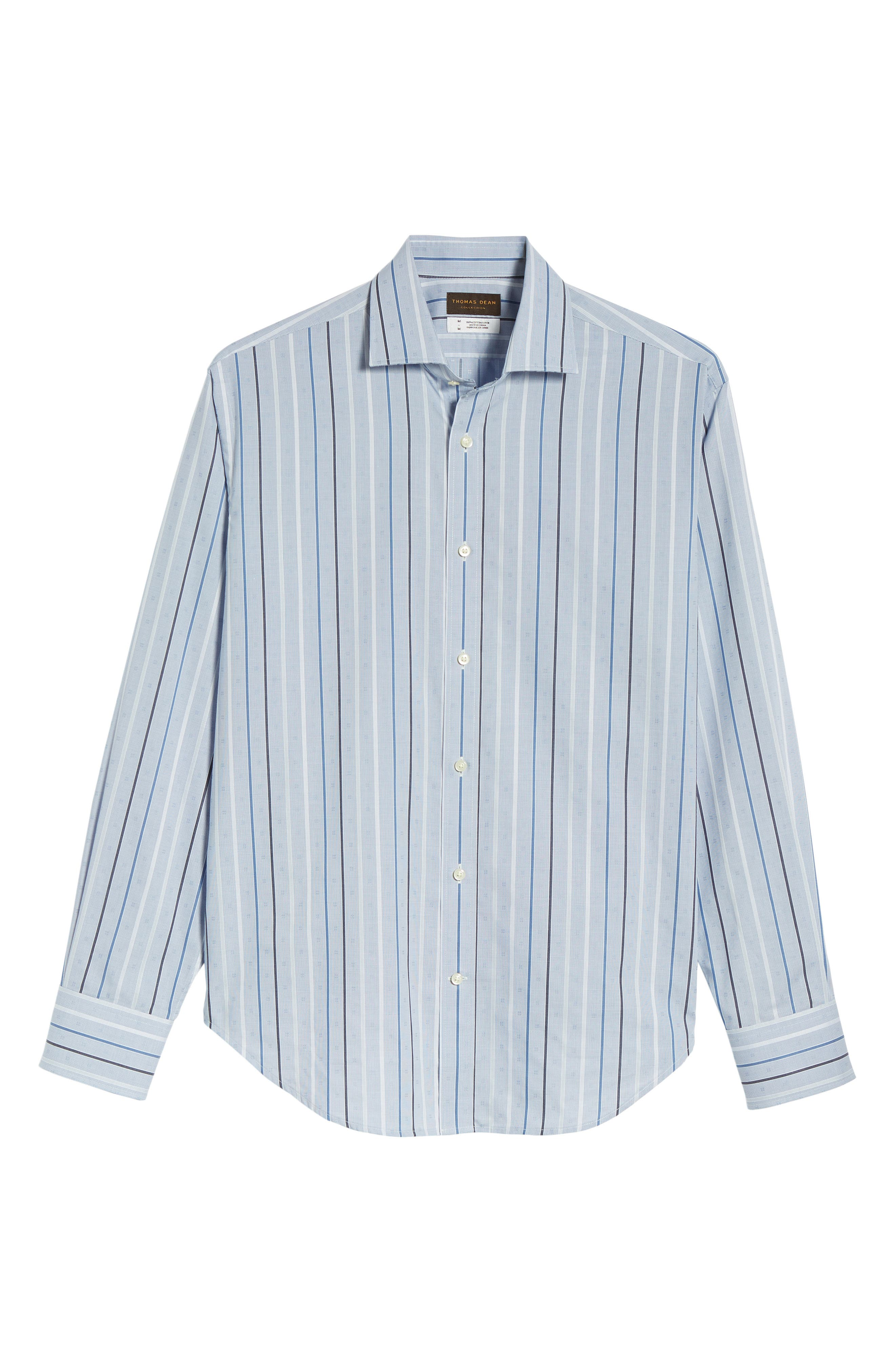 THOMAS DEAN,                             Regular Fit Check Sport Shirt,                             Alternate thumbnail 6, color,                             400