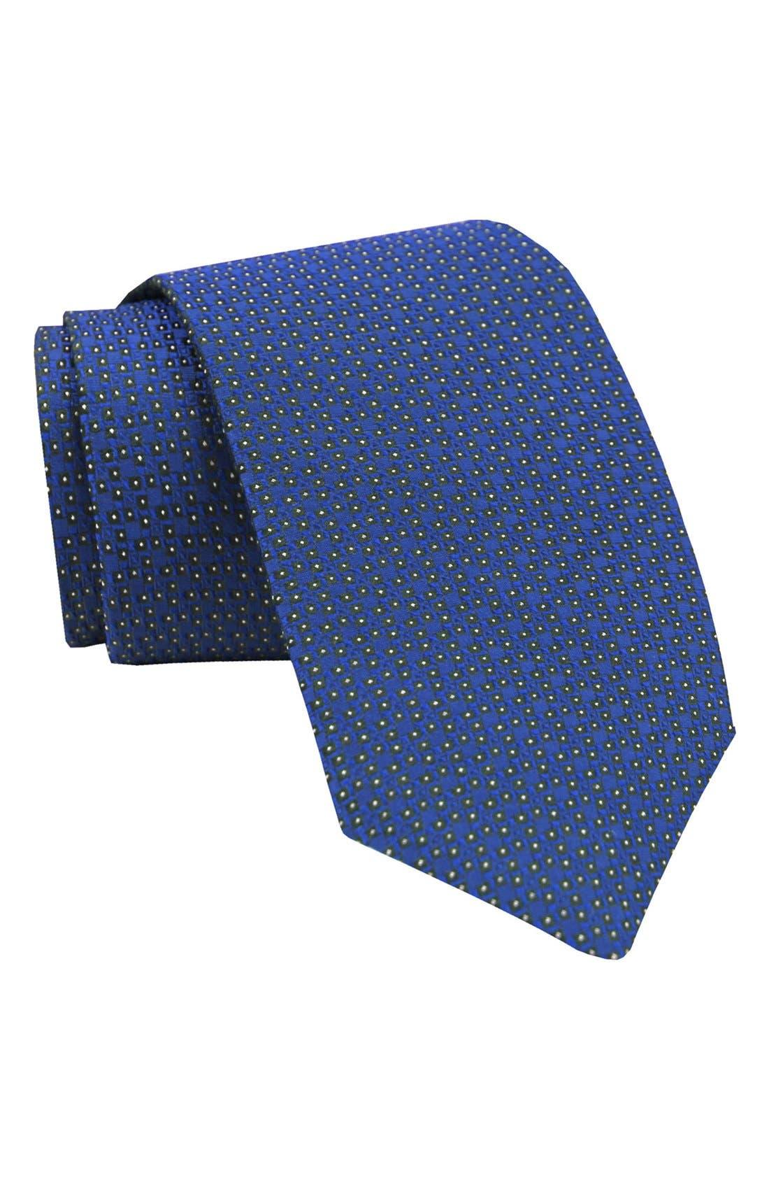 Geometric Silk Tie,                         Main,                         color, 425