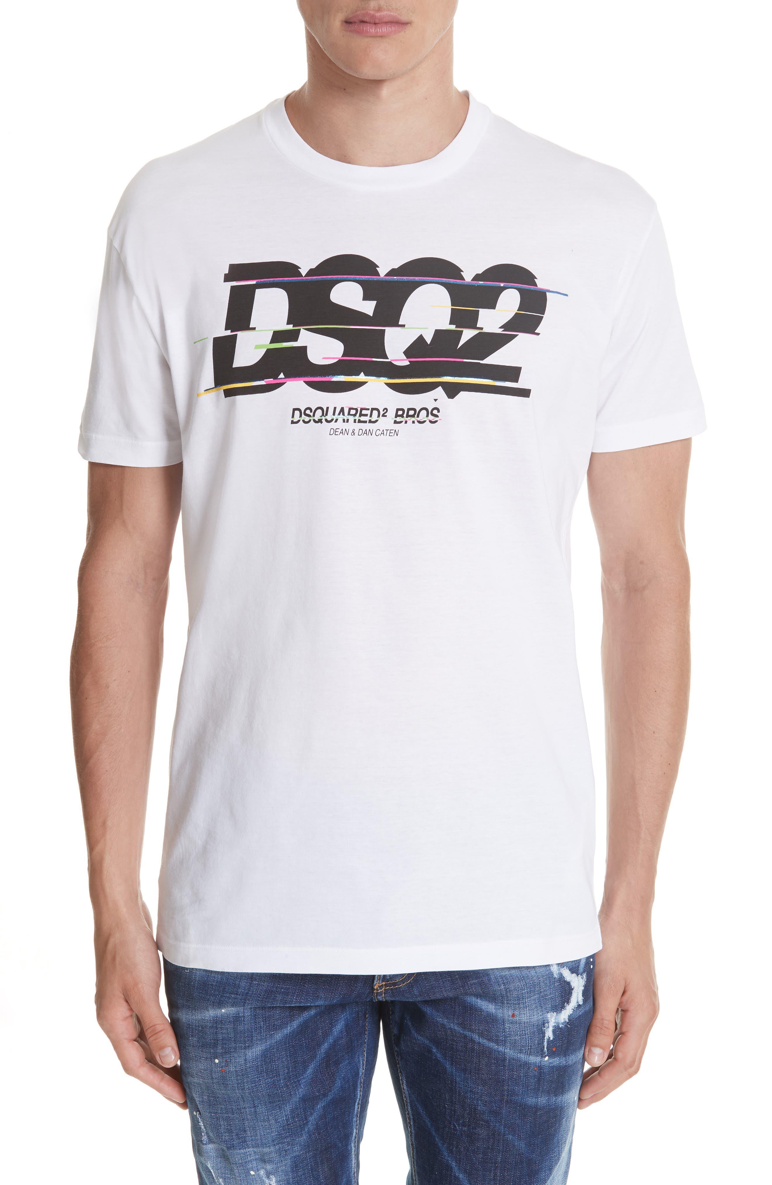 Racer Logo T-Shirt,                         Main,                         color, WHITE