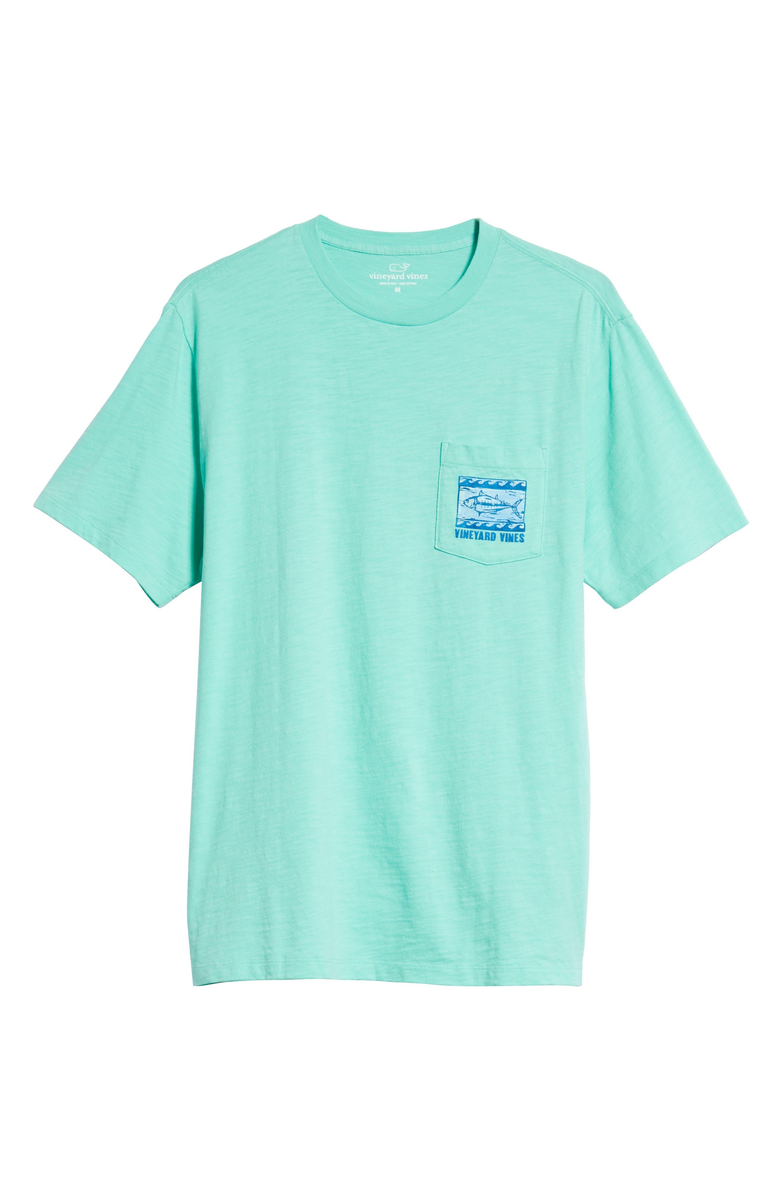 Woodblock Tuna T-Shirt,                             Alternate thumbnail 6, color,                             400