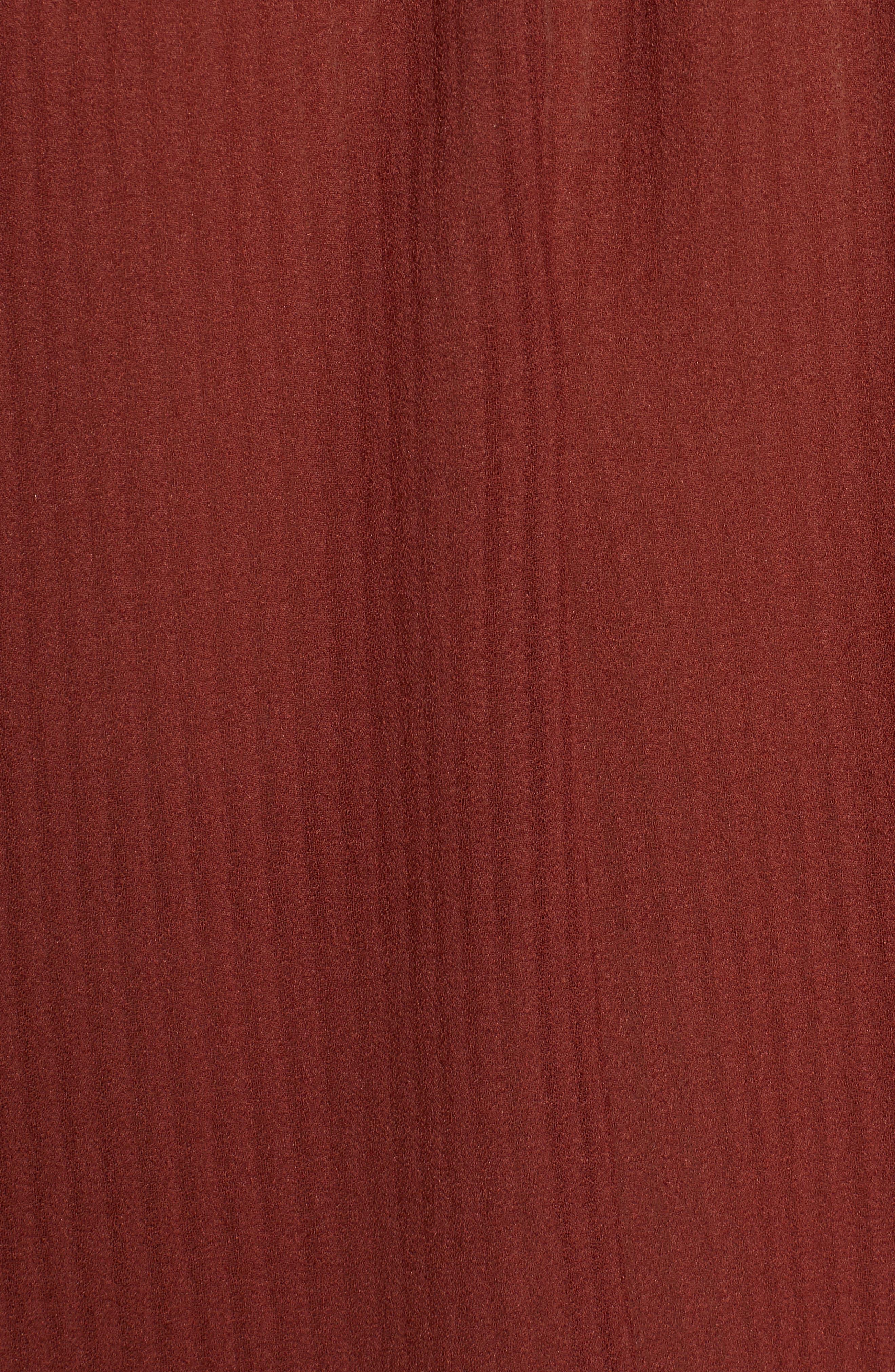 Bishop + Young Cold Shoulder Blouson Minidress,                             Alternate thumbnail 5, color,                             RUST