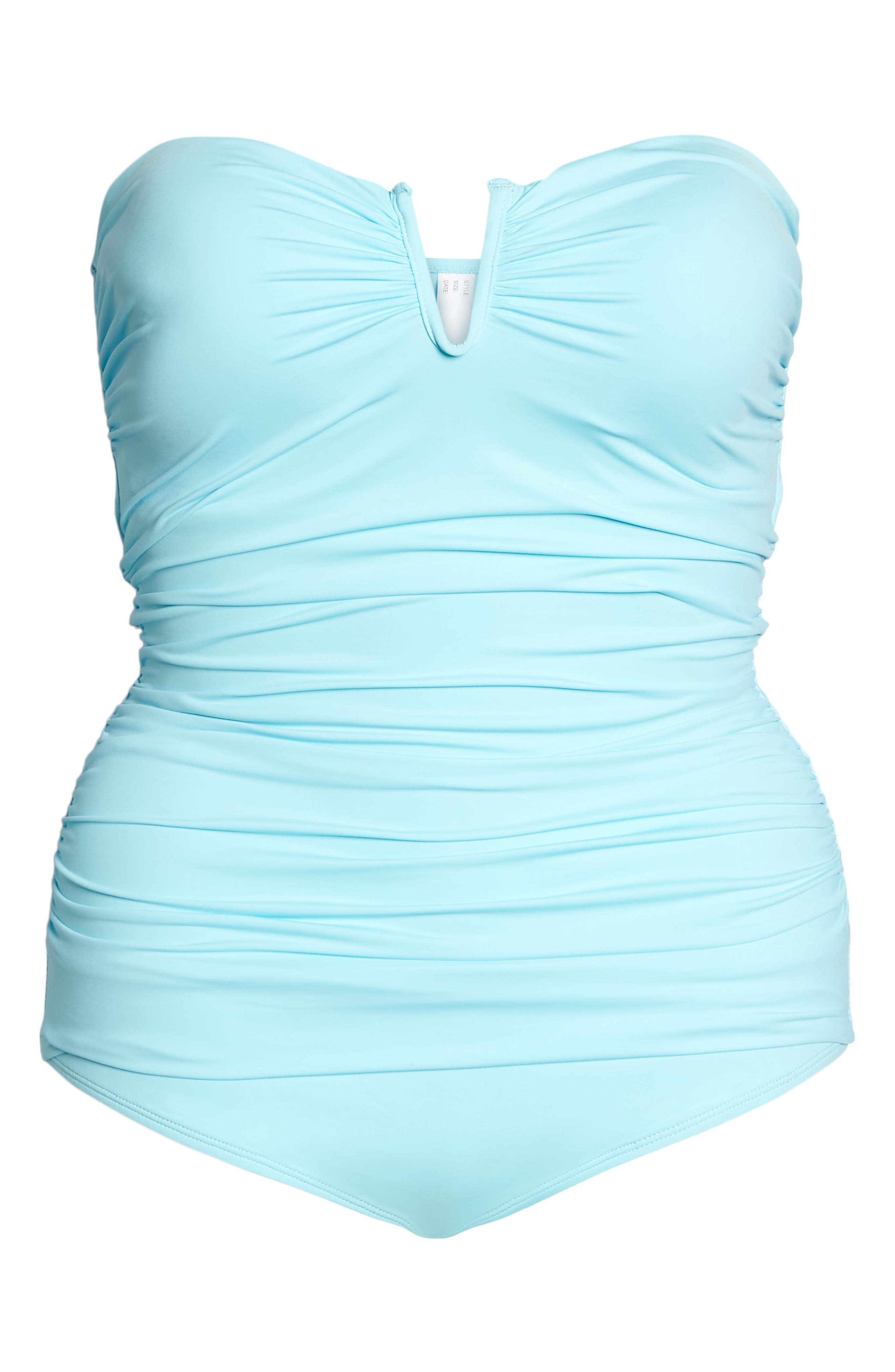 'Pearl' Convertible One-Piece Swimsuit,                             Alternate thumbnail 6, color,                             SWIMMING POOL