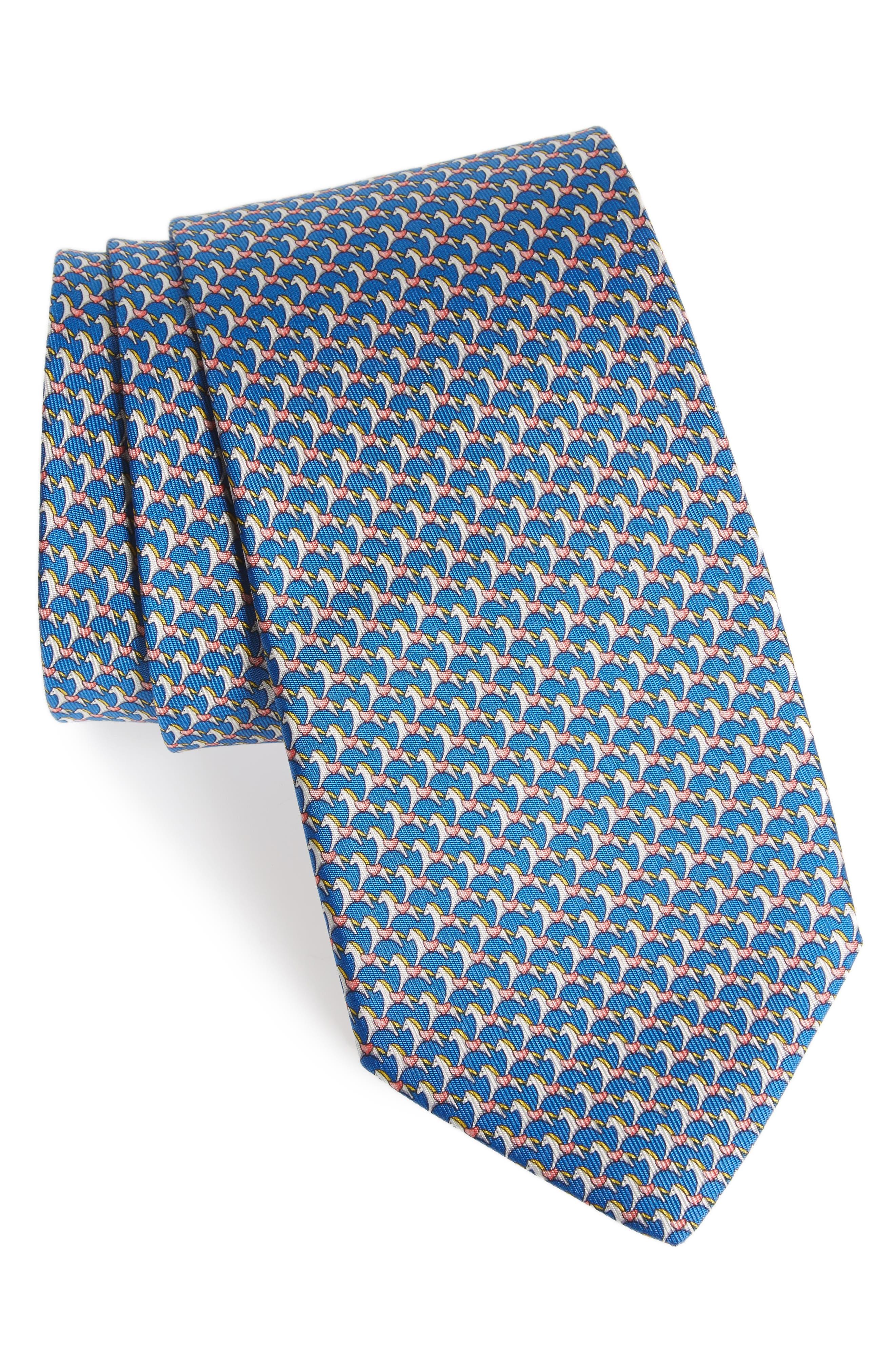 Edwin Print Silk Tie,                         Main,                         color, 494