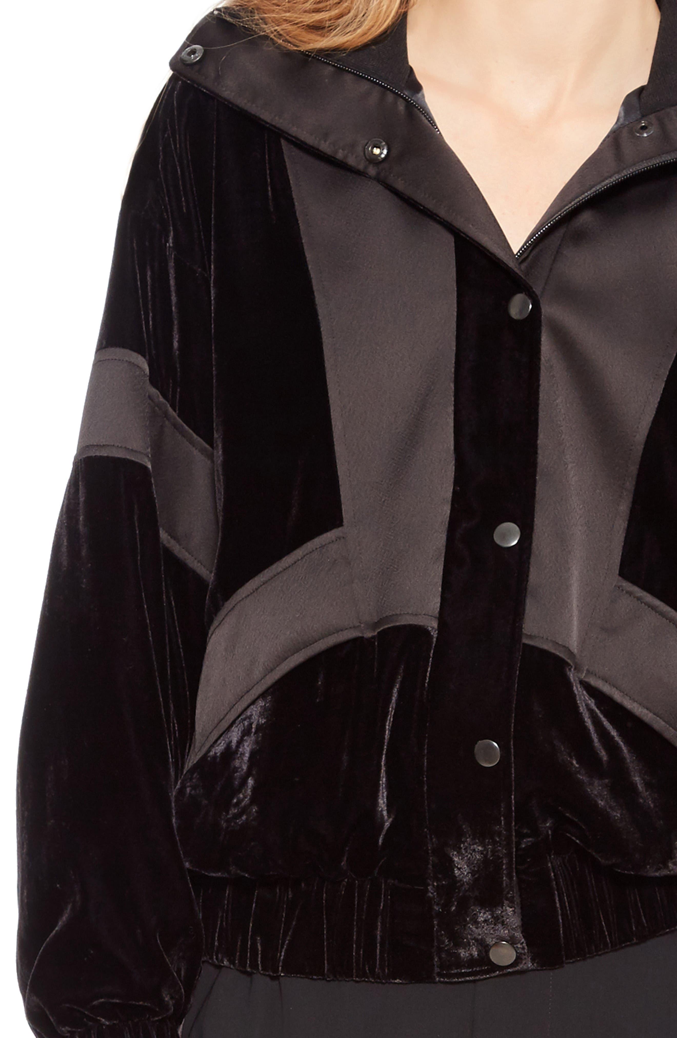 Hollis Jacket,                             Alternate thumbnail 4, color,                             BLACK