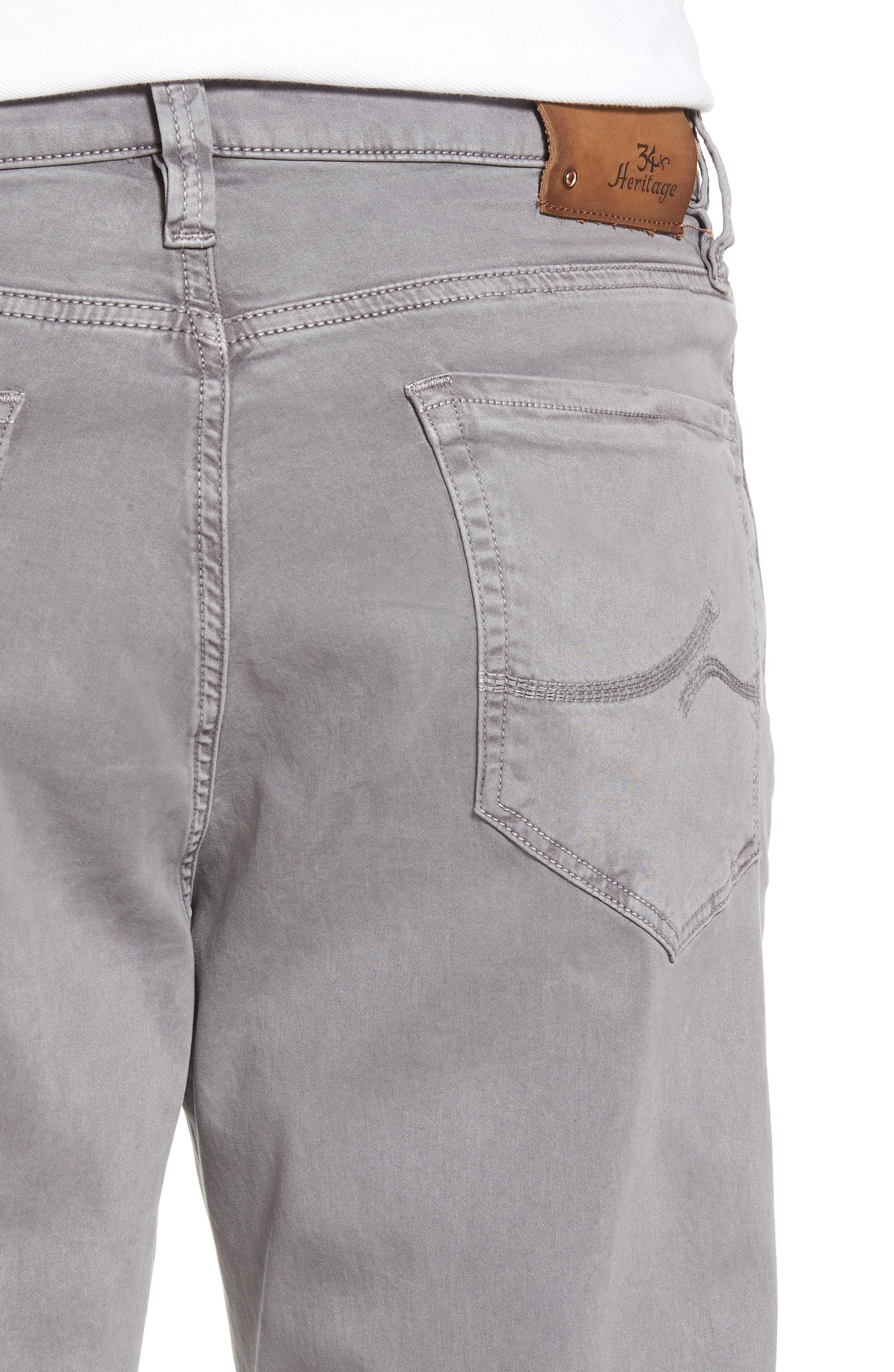 Charisma Relaxed Fit Twill Pants,                             Alternate thumbnail 4, color,                             SHARK TWILL
