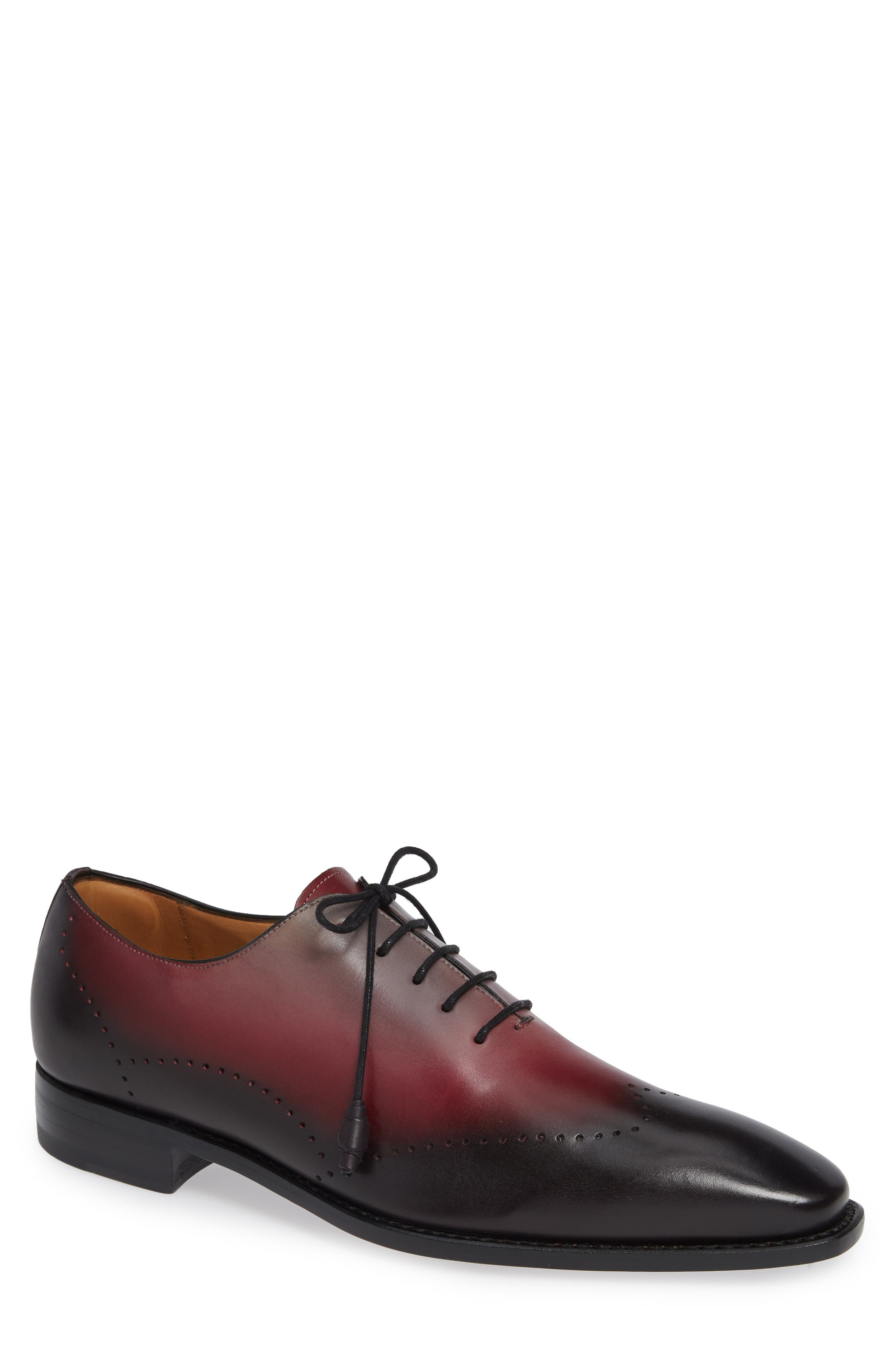 Addy Wingtip Whole Cut Shoe,                             Main thumbnail 1, color,                             BLACK LEATHER