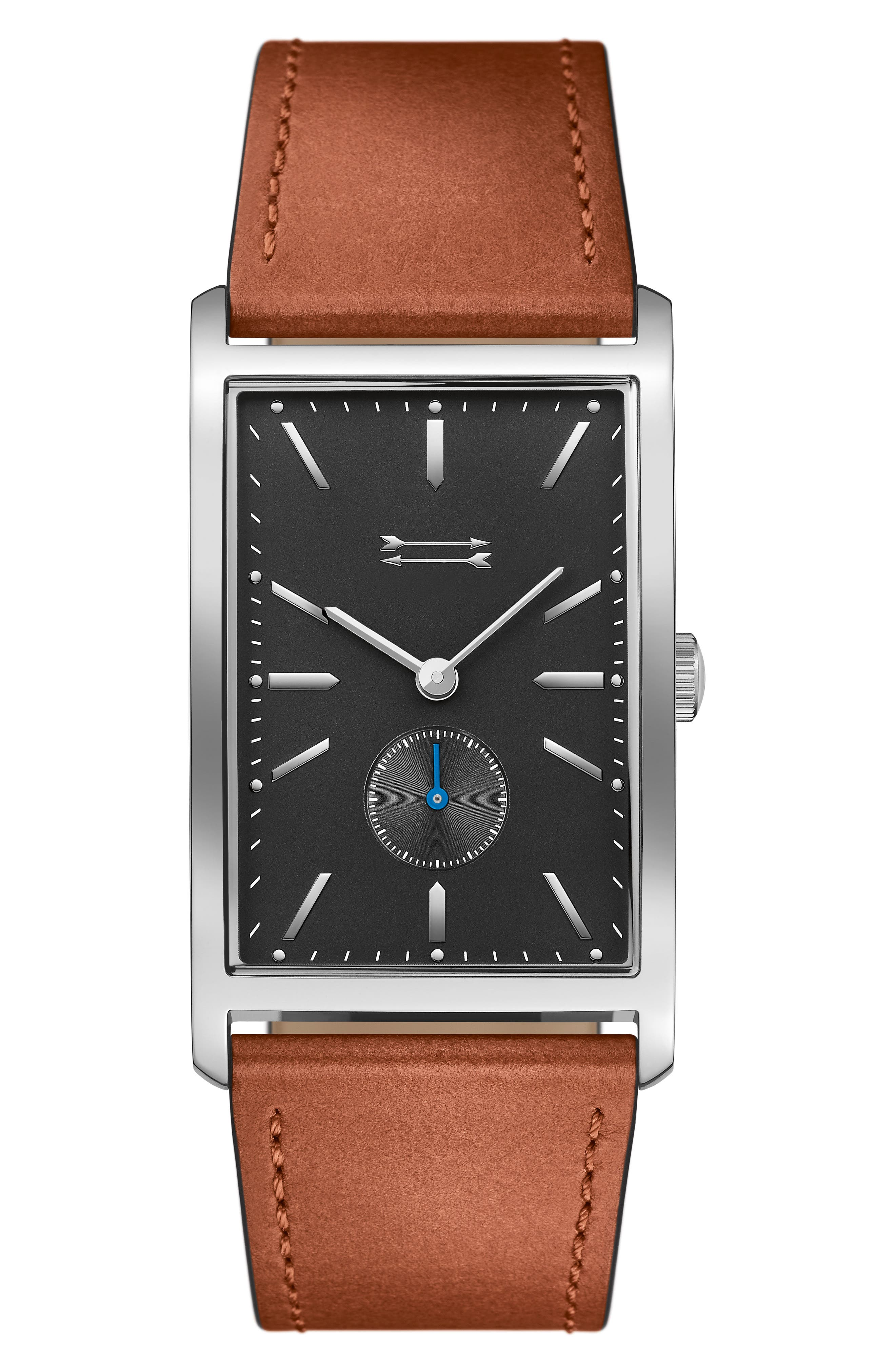 Pesaro Leather Strap Watch, 27mm,                             Main thumbnail 3, color,