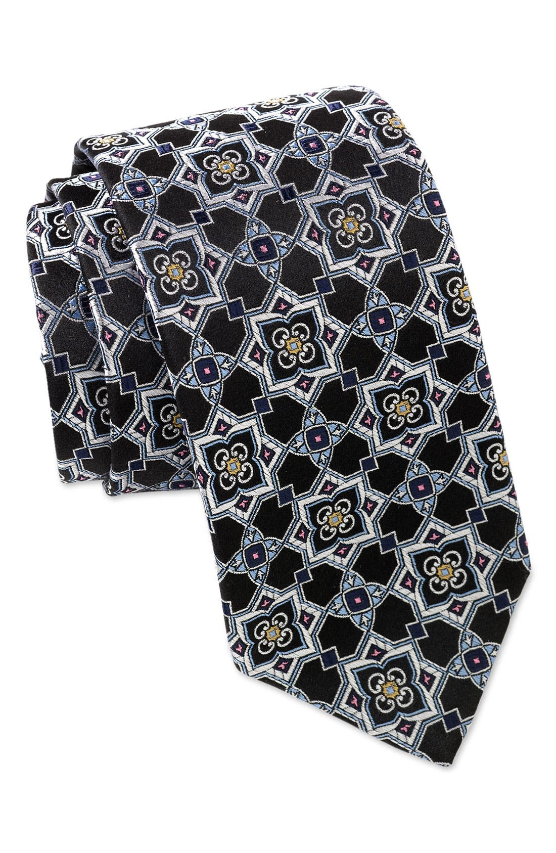 'Best of Class' Woven Silk Tie, Main, color, 001