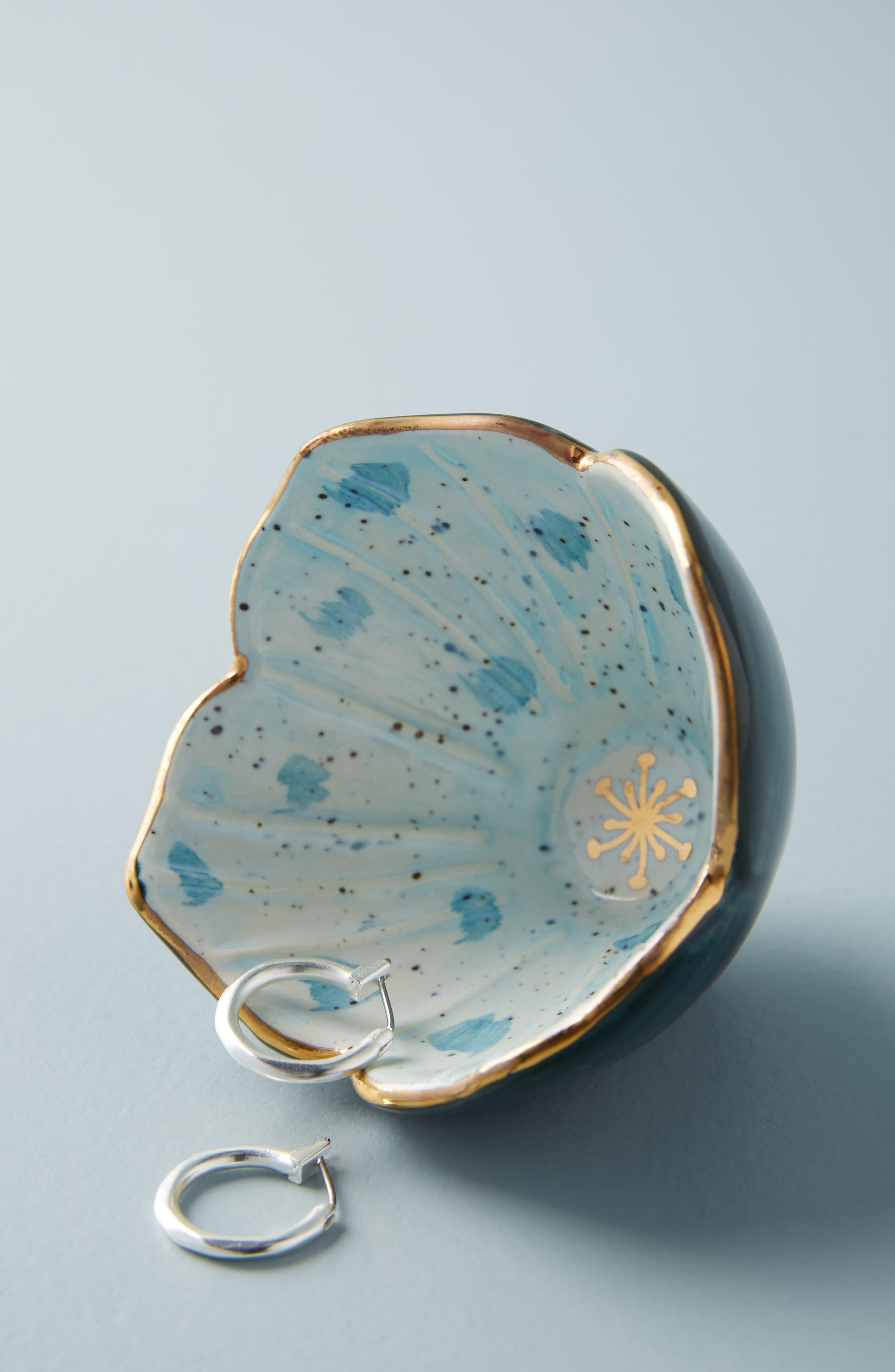 Flora Crocus Trinket Dish,                             Alternate thumbnail 2, color,                             BLUE