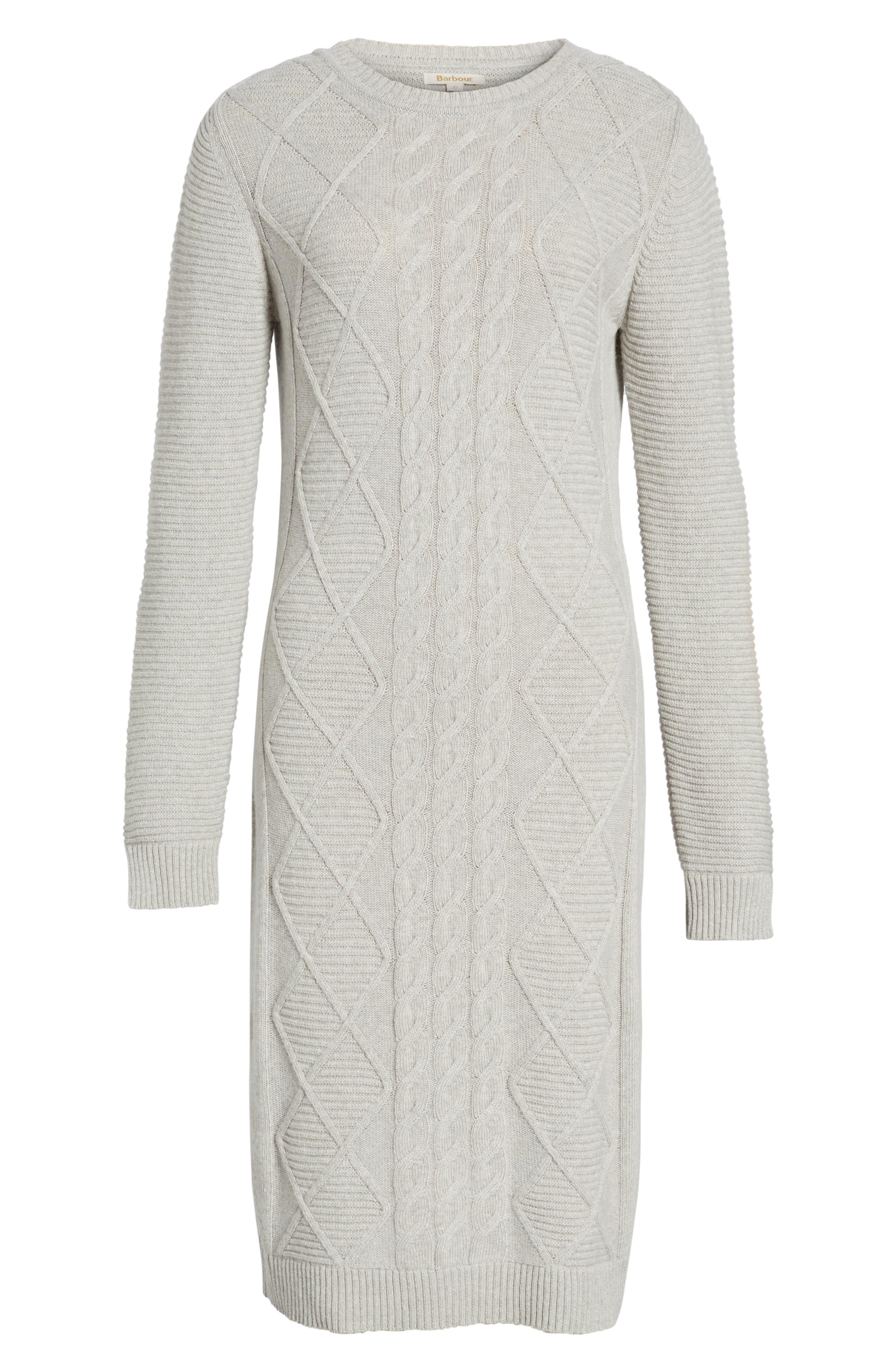Emmanuel Cable Knit Sweater Dress,                             Alternate thumbnail 6, color,                             050