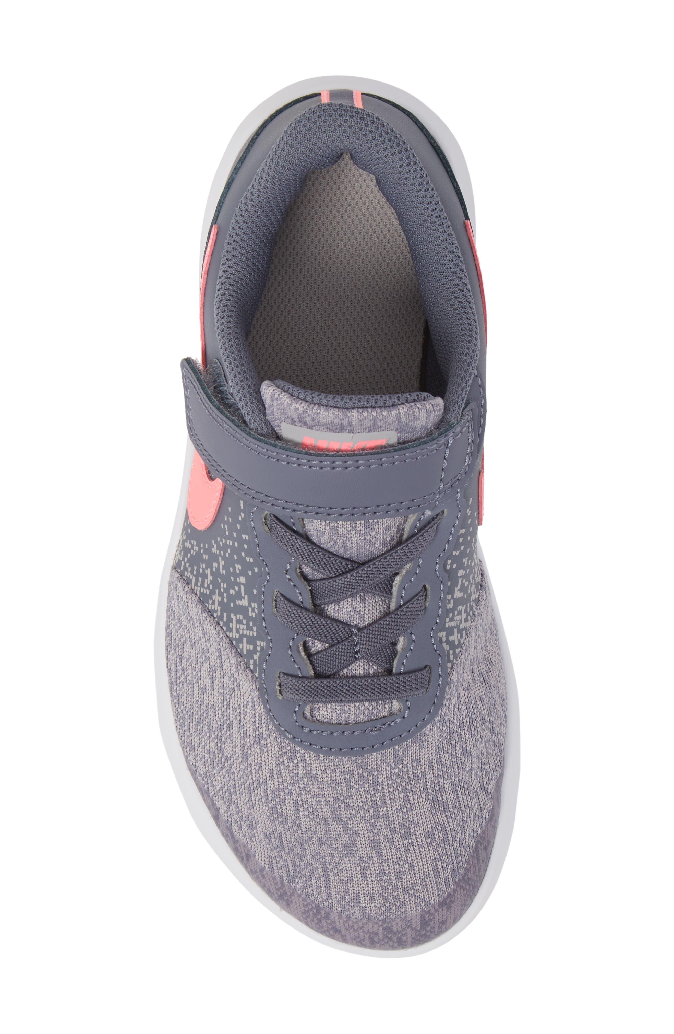 Flex Contact Running Shoe,                             Alternate thumbnail 5, color,                             LIGHT CARBON/ SUNSET PULSE