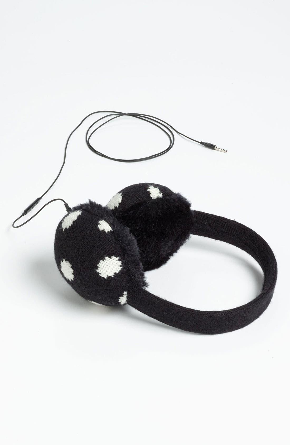 KATE SPADE NEW YORK 'spotty' tech earmuffs, Main, color, 001