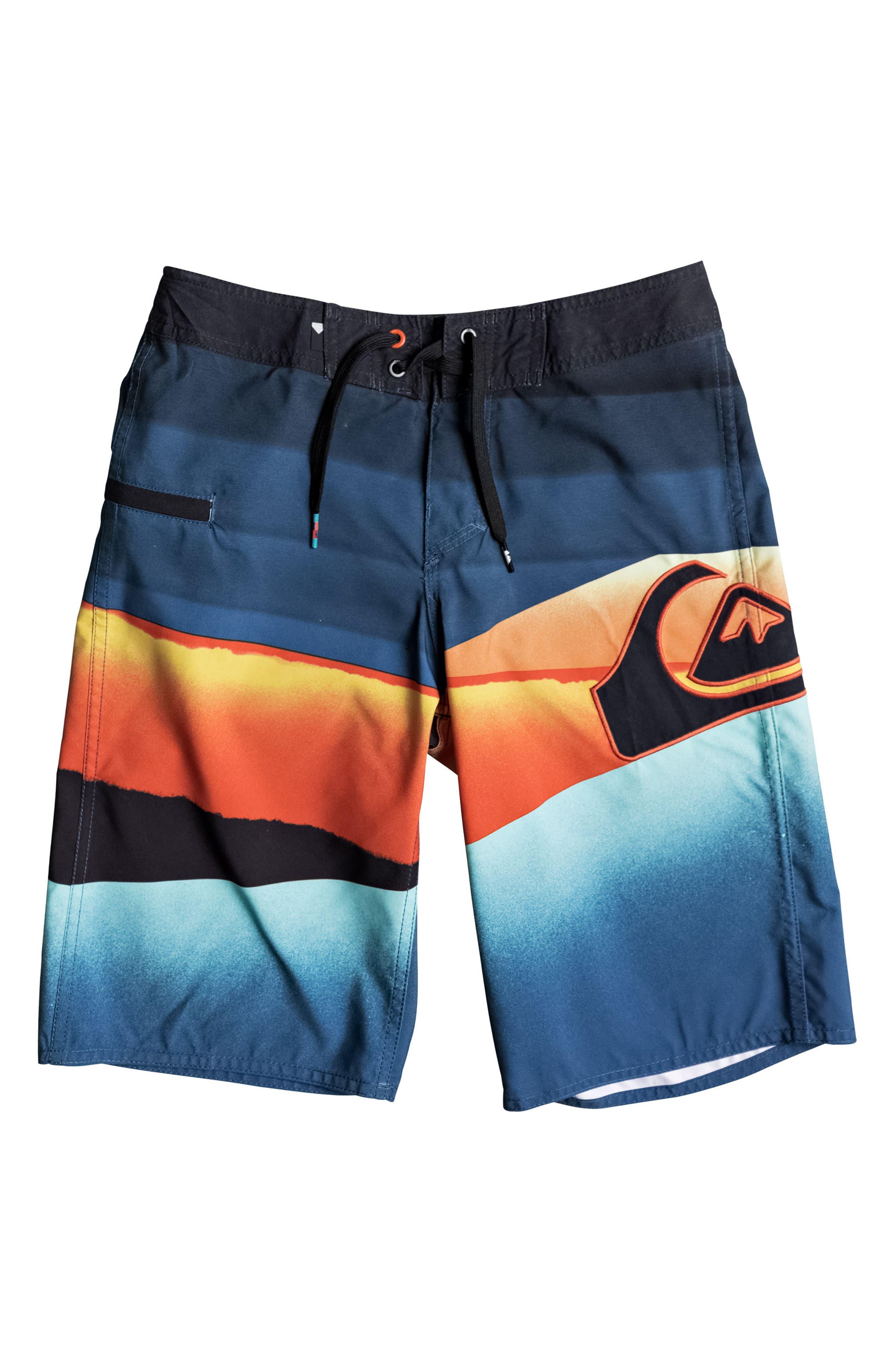 Slash Logo Board Shorts,                         Main,                         color, 407
