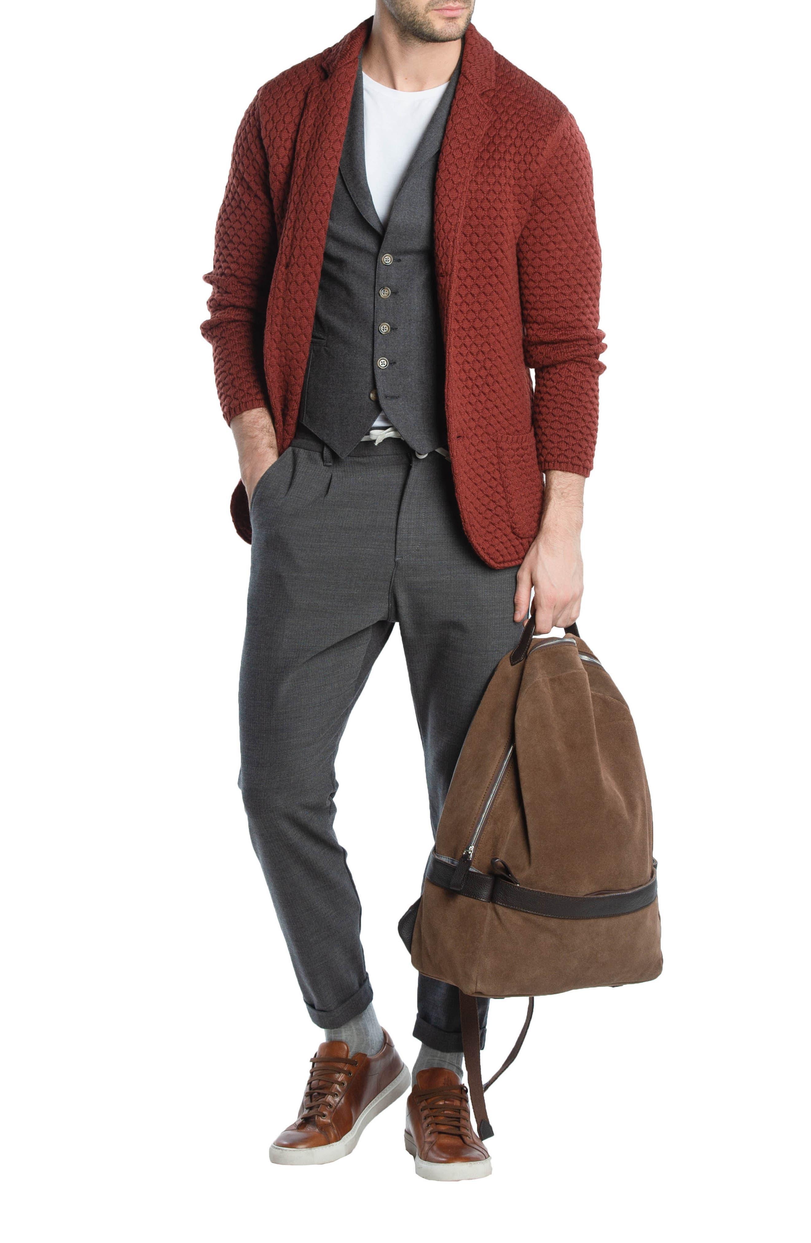 Wool Sweater Jacket,                             Alternate thumbnail 8, color,                             223