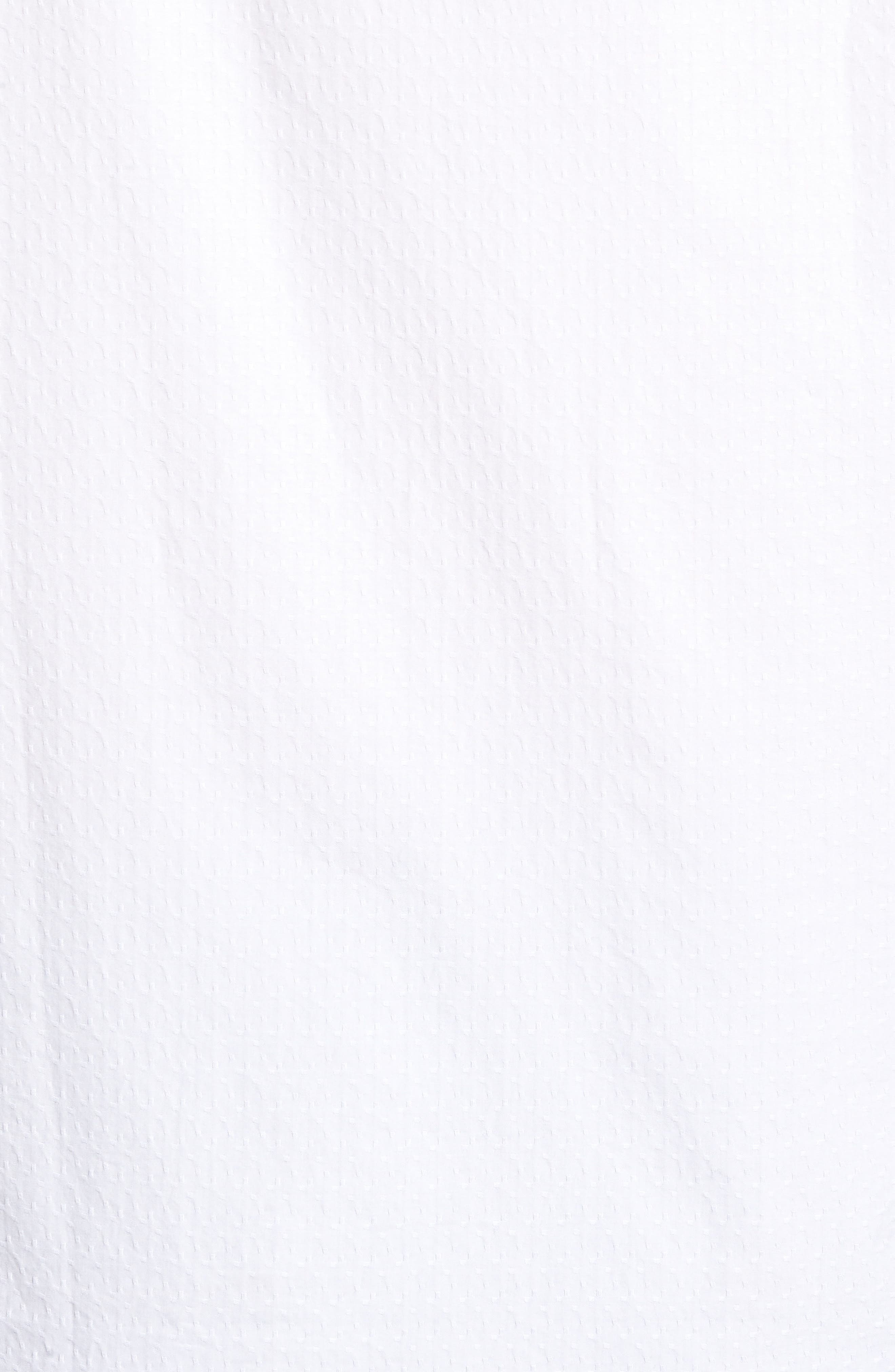 Classic Fit Textured Sport Shirt,                             Alternate thumbnail 5, color,                             WHITE