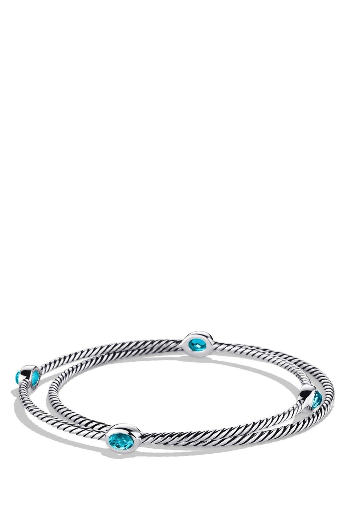 'Color Classics' Set of 2 Bangles with Semiprecious Stones,                         Main,                         color, BLUE TOPAZ