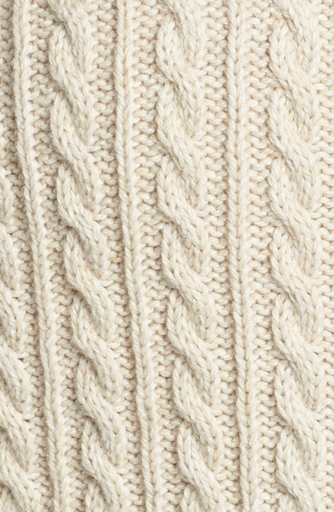 Colorblock Cable Knit Button Cardigan,                             Alternate thumbnail 6, color,                             900