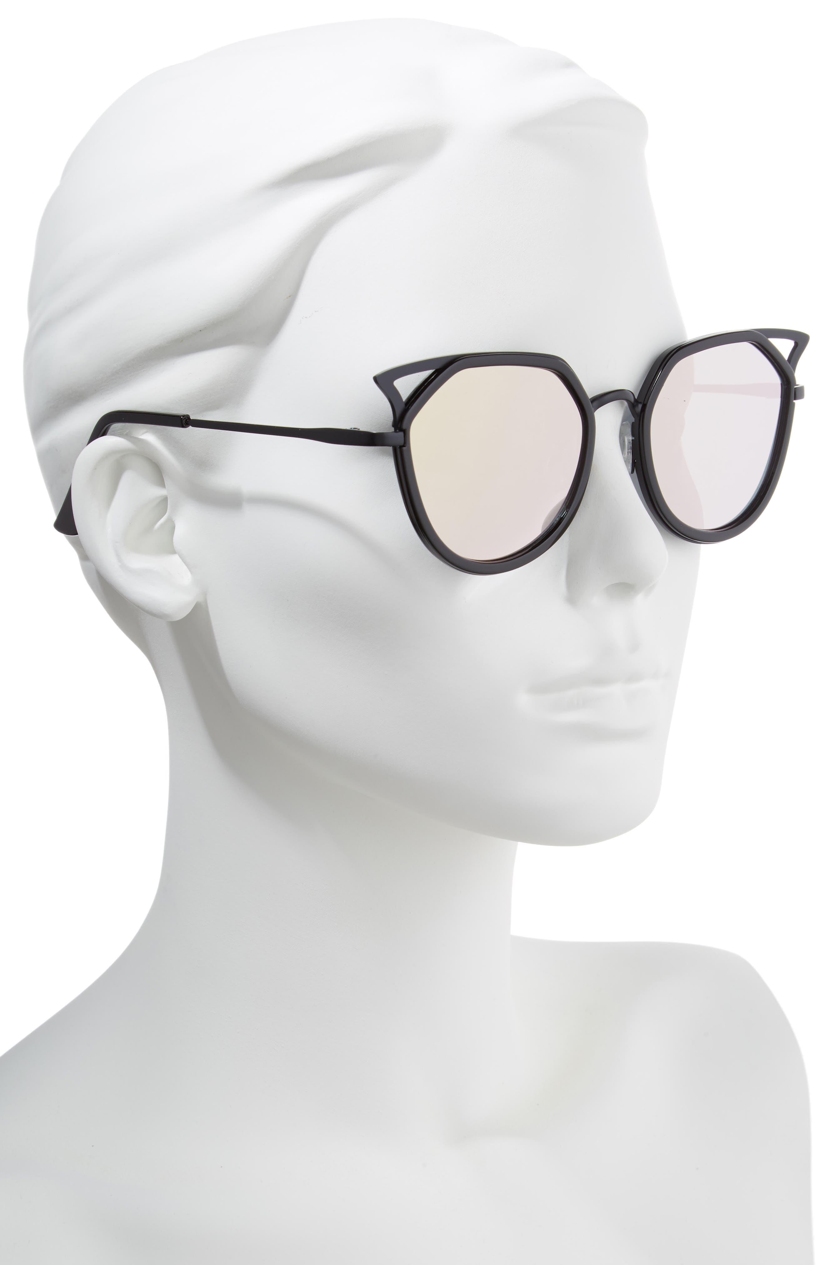 Satellite 60mm Cat Eye Sunglasses,                             Alternate thumbnail 2, color,                             001