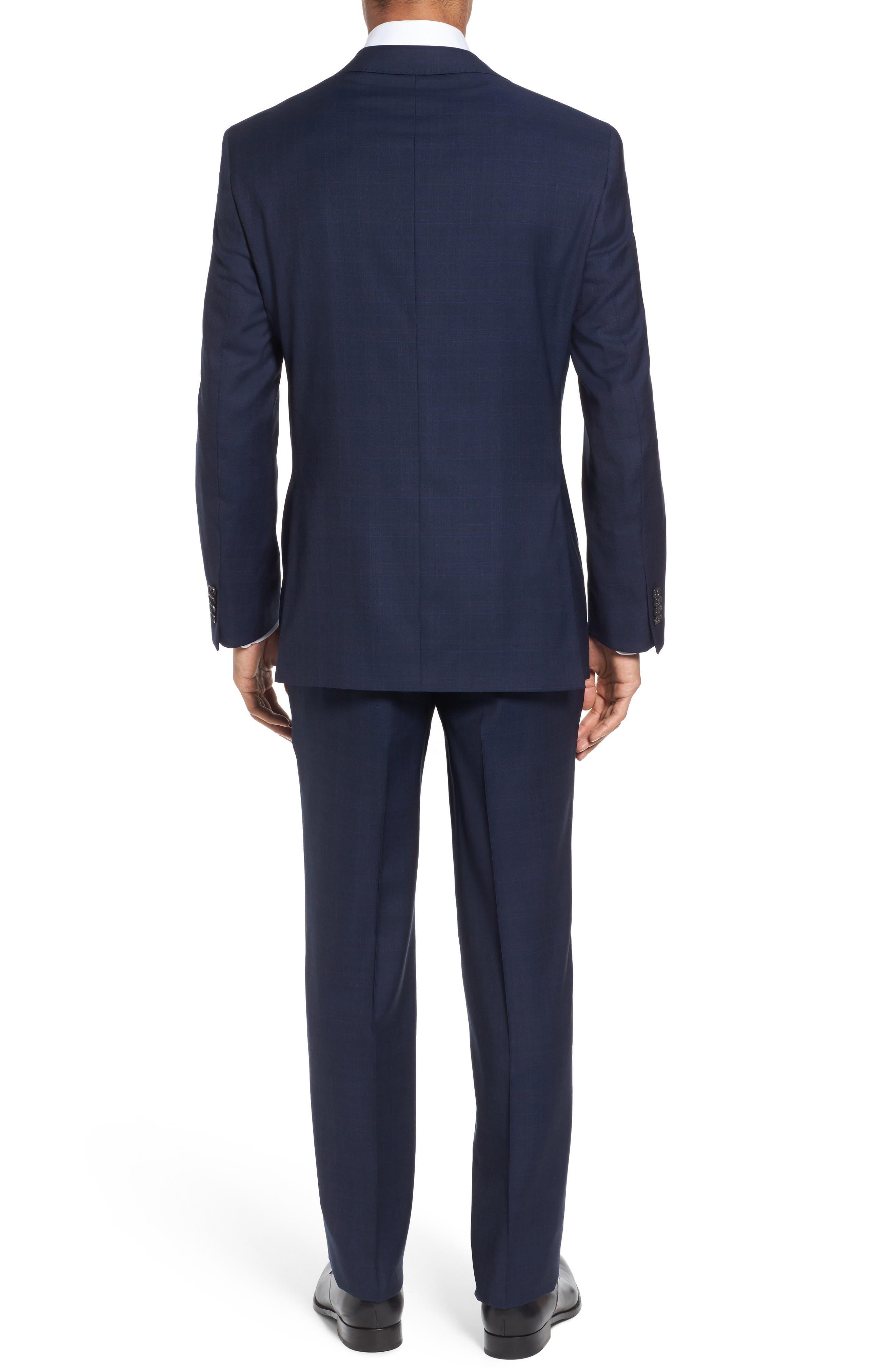 Ryan Classic Fit Plaid Wool Suit,                             Alternate thumbnail 2, color,                             410