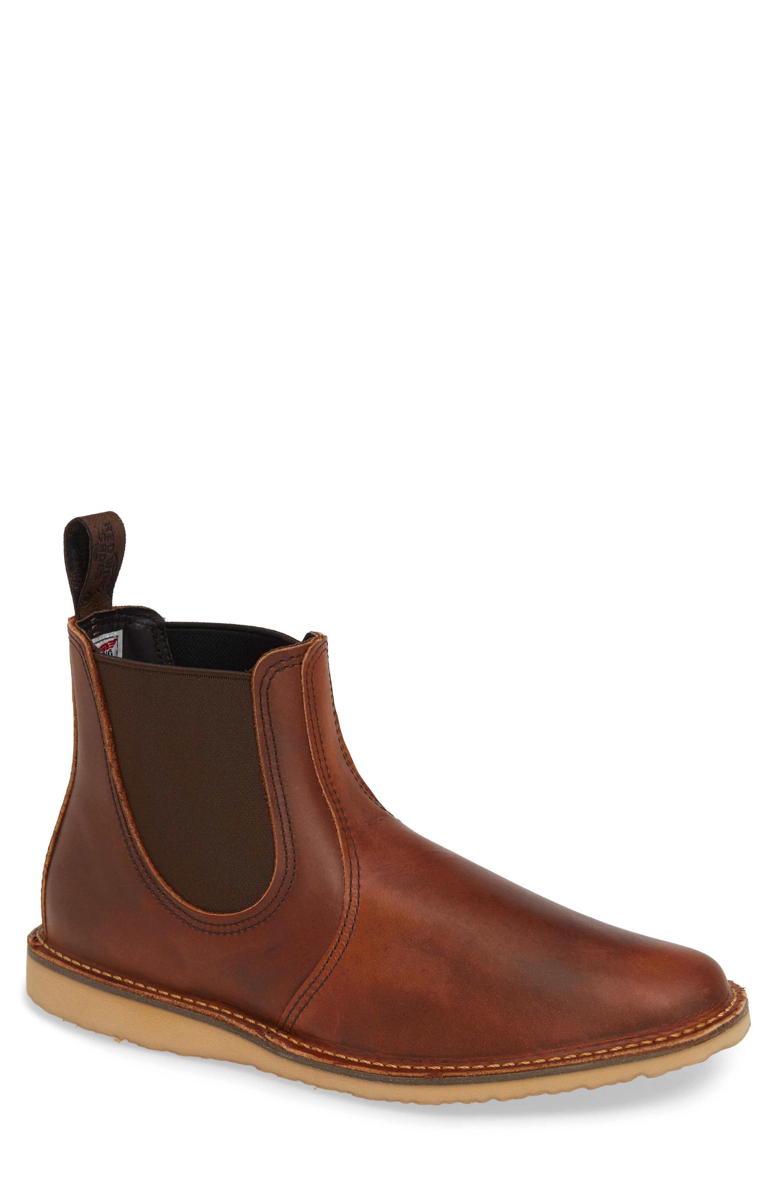 Chelsea Boot,                             Main thumbnail 1, color,                             COPPER LEATHER