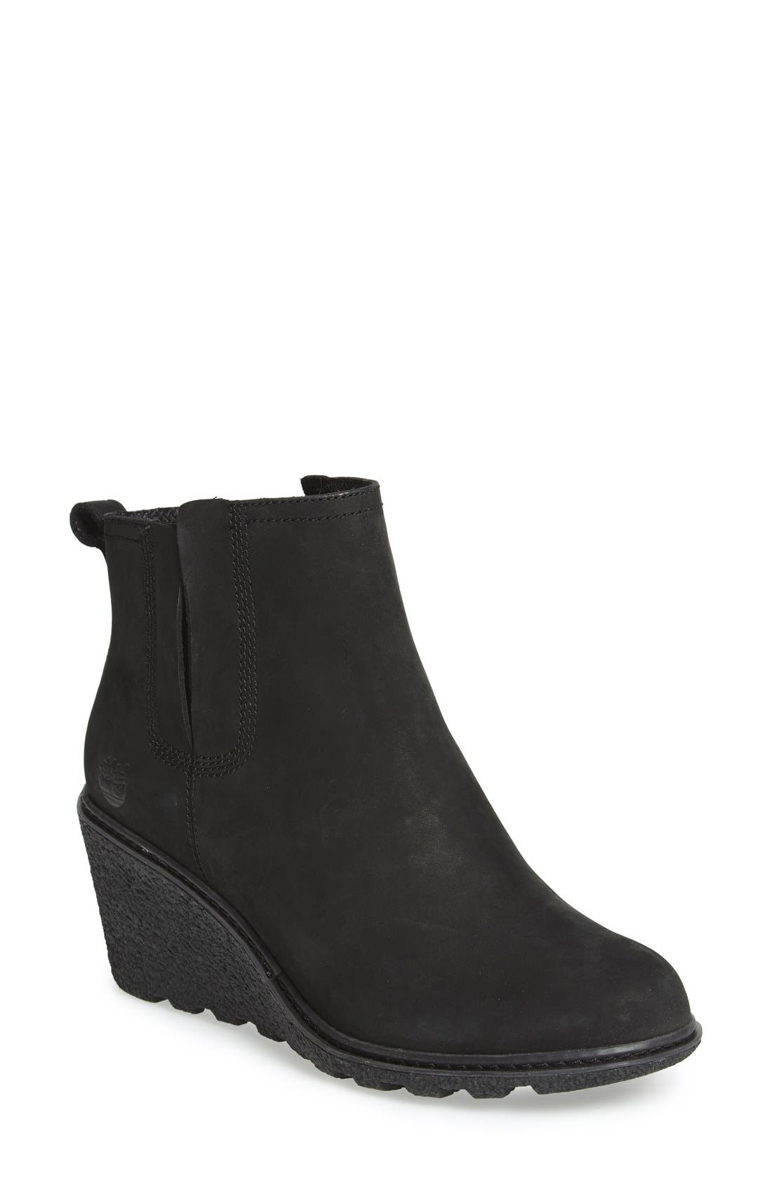 'Amston' Chelsea Wedge Boot,                         Main,                         color, 001