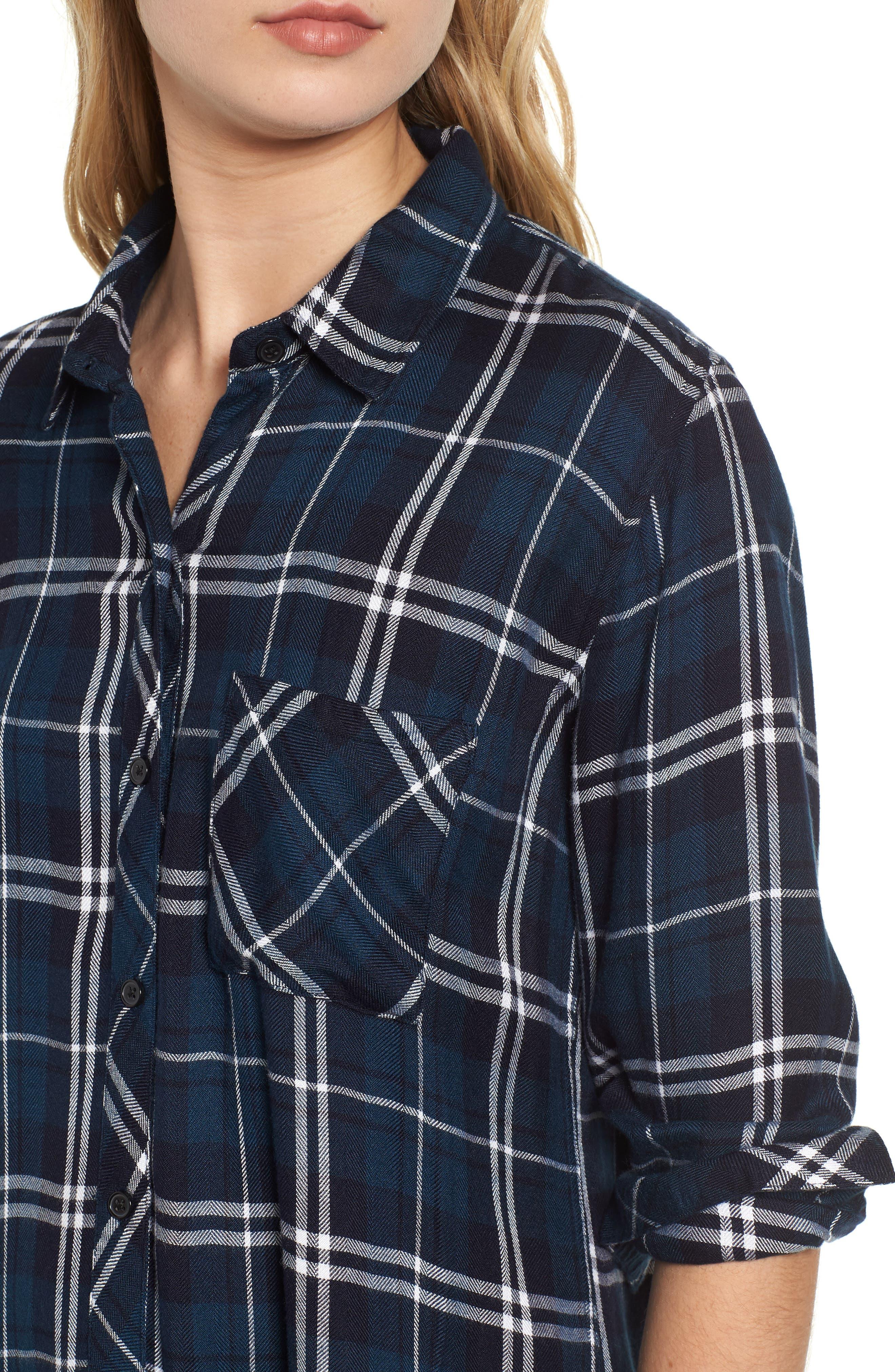 Hunter Plaid Shirt,                             Alternate thumbnail 464, color,