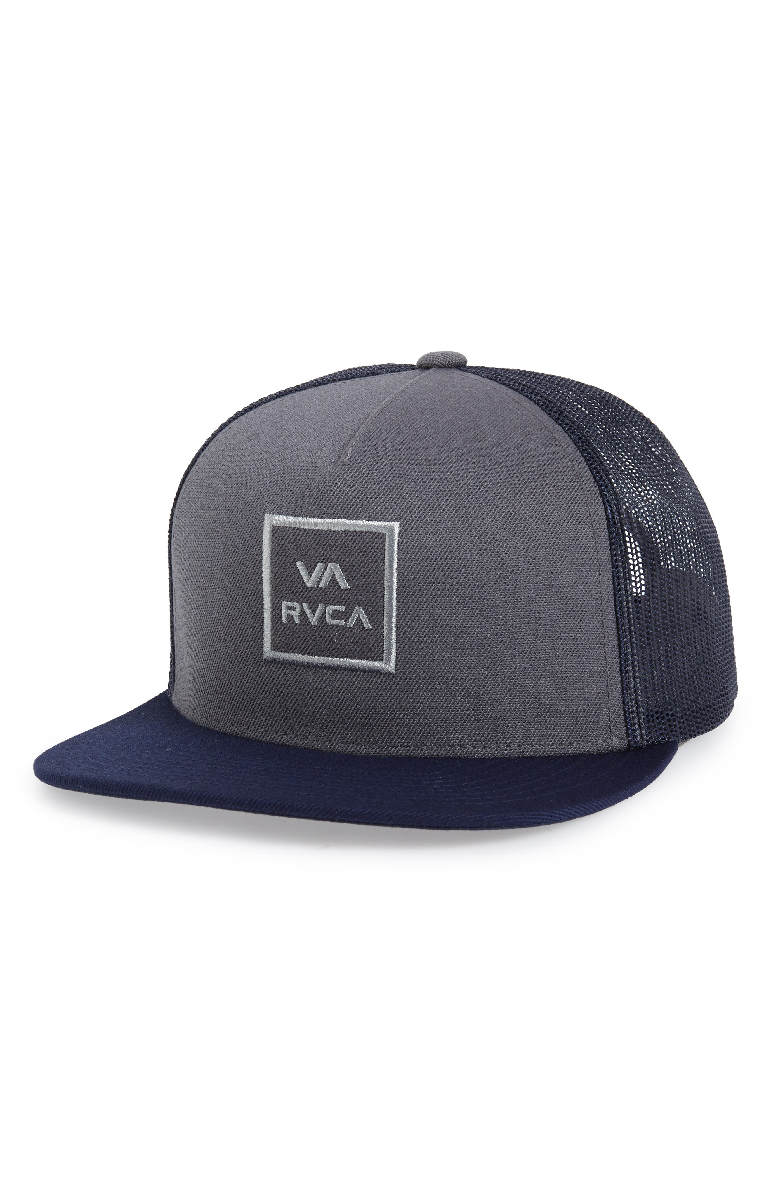 VA All the Way Trucker Hat,                         Main,                         color, BLUE/ GREY