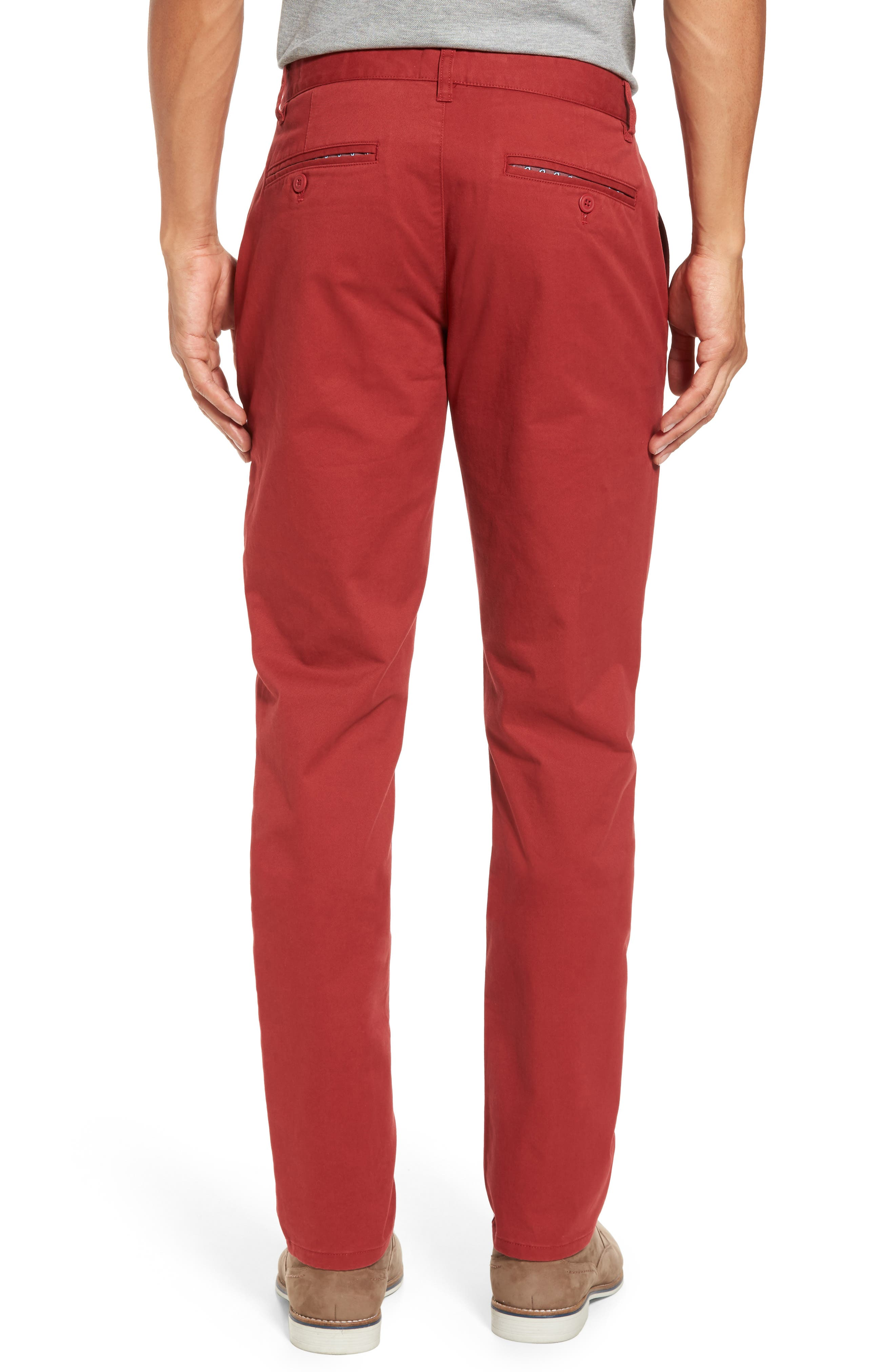 Tailored Fit Washed Stretch Cotton Chinos,                             Alternate thumbnail 70, color,