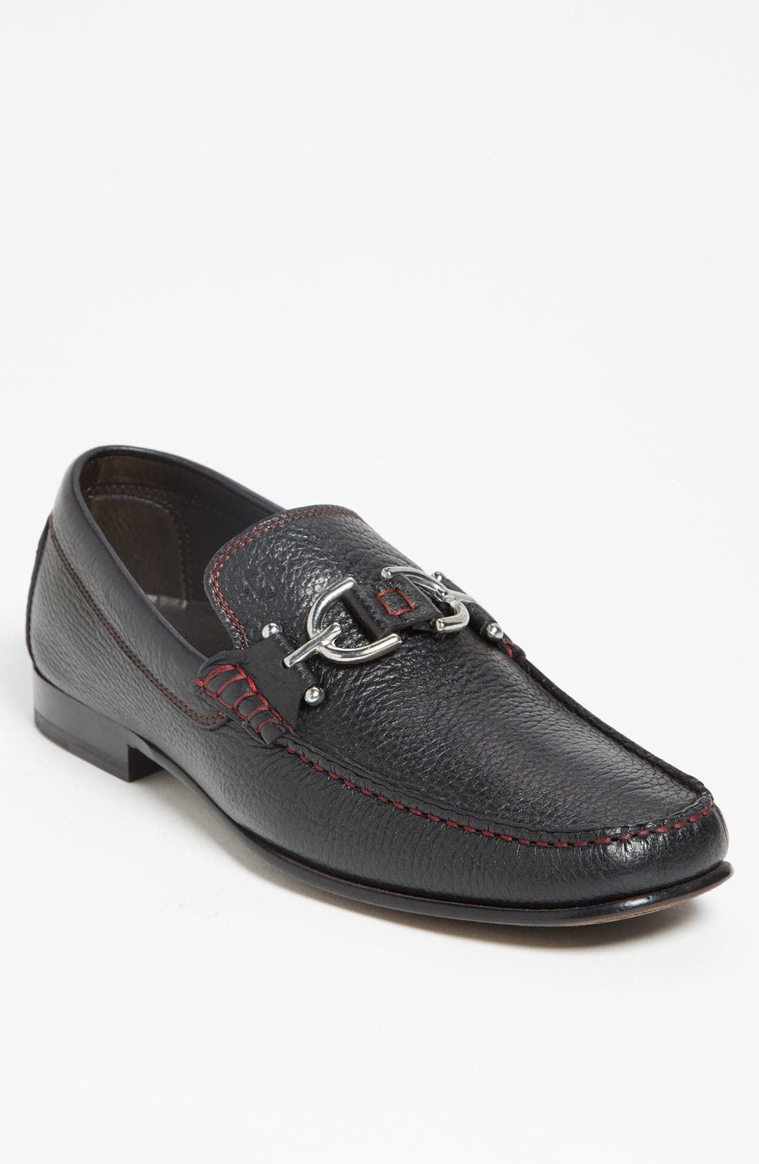 Dacio II Loafer,                         Main,                         color, BLACK/ BLACK LEATHER